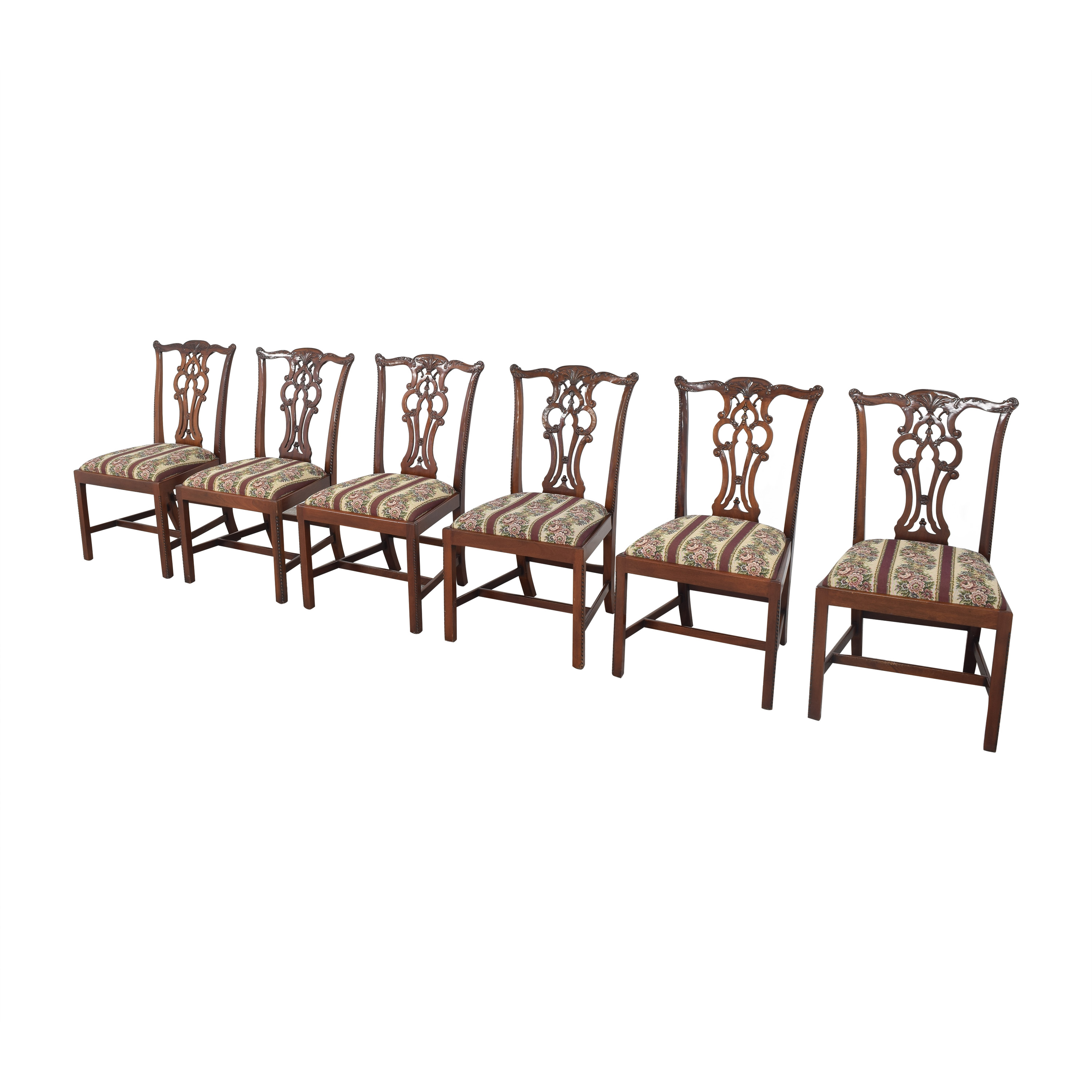 Maitland-Smith Maitland-Smith Chippendale Upholstered Dining Chairs price