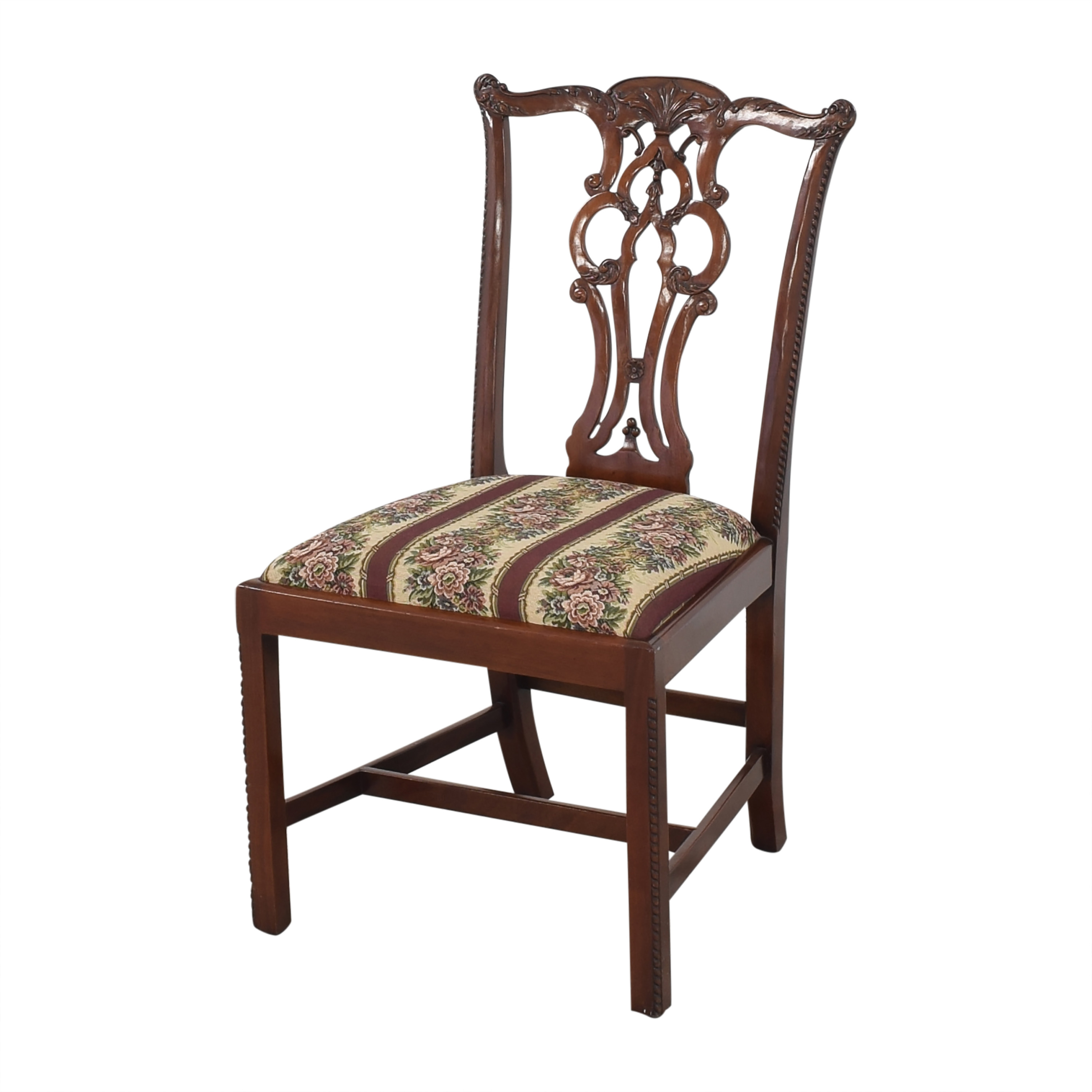 Maitland-Smith Maitland-Smith Chippendale Upholstered Dining Chairs nj