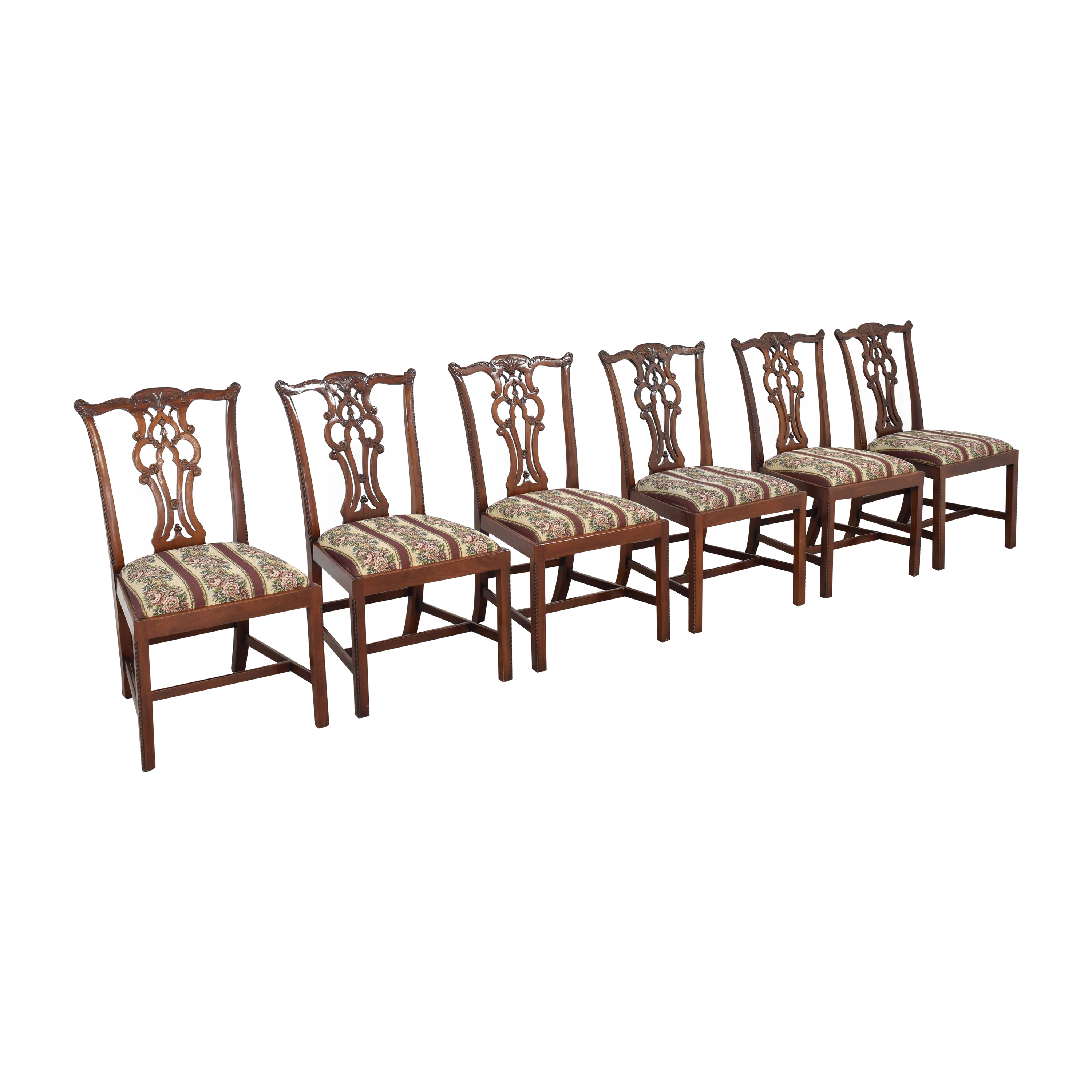 Maitland-Smith Maitland-Smith Chippendale Upholstered Dining Chairs coupon
