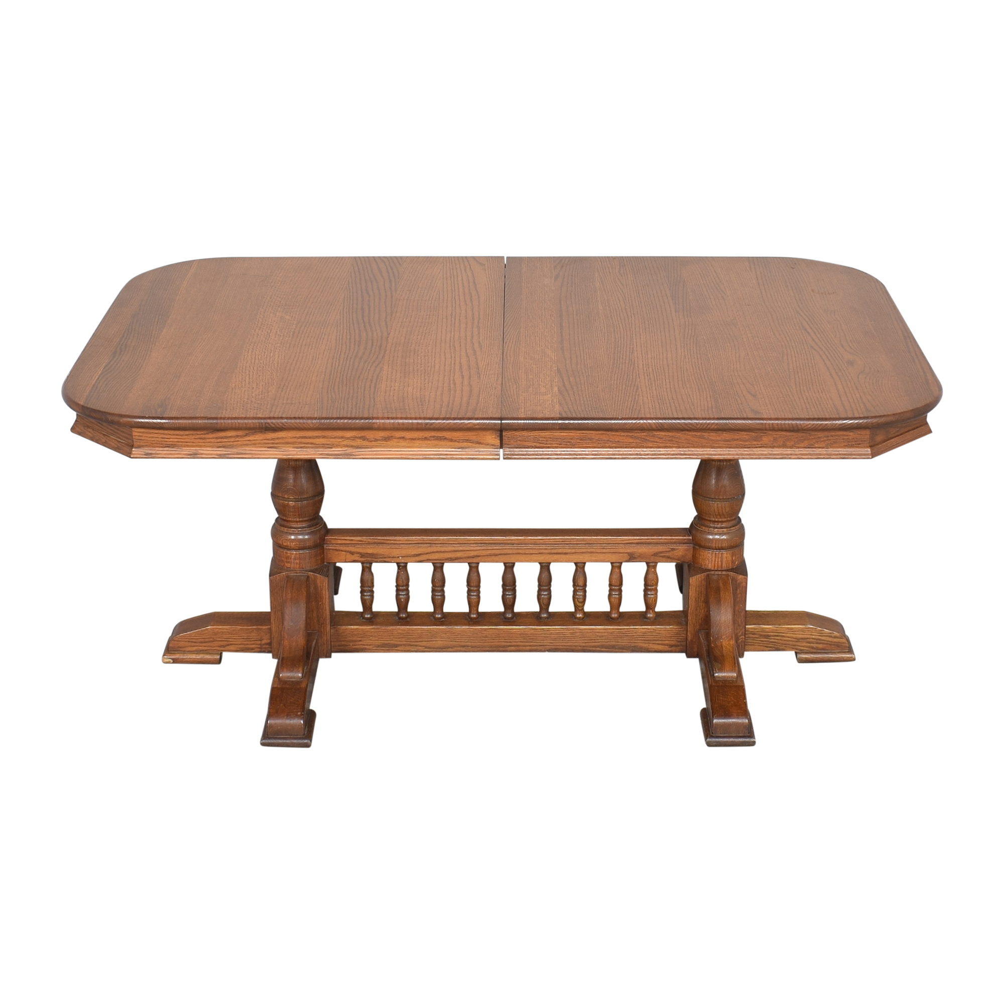 Trestle Dining Table brown