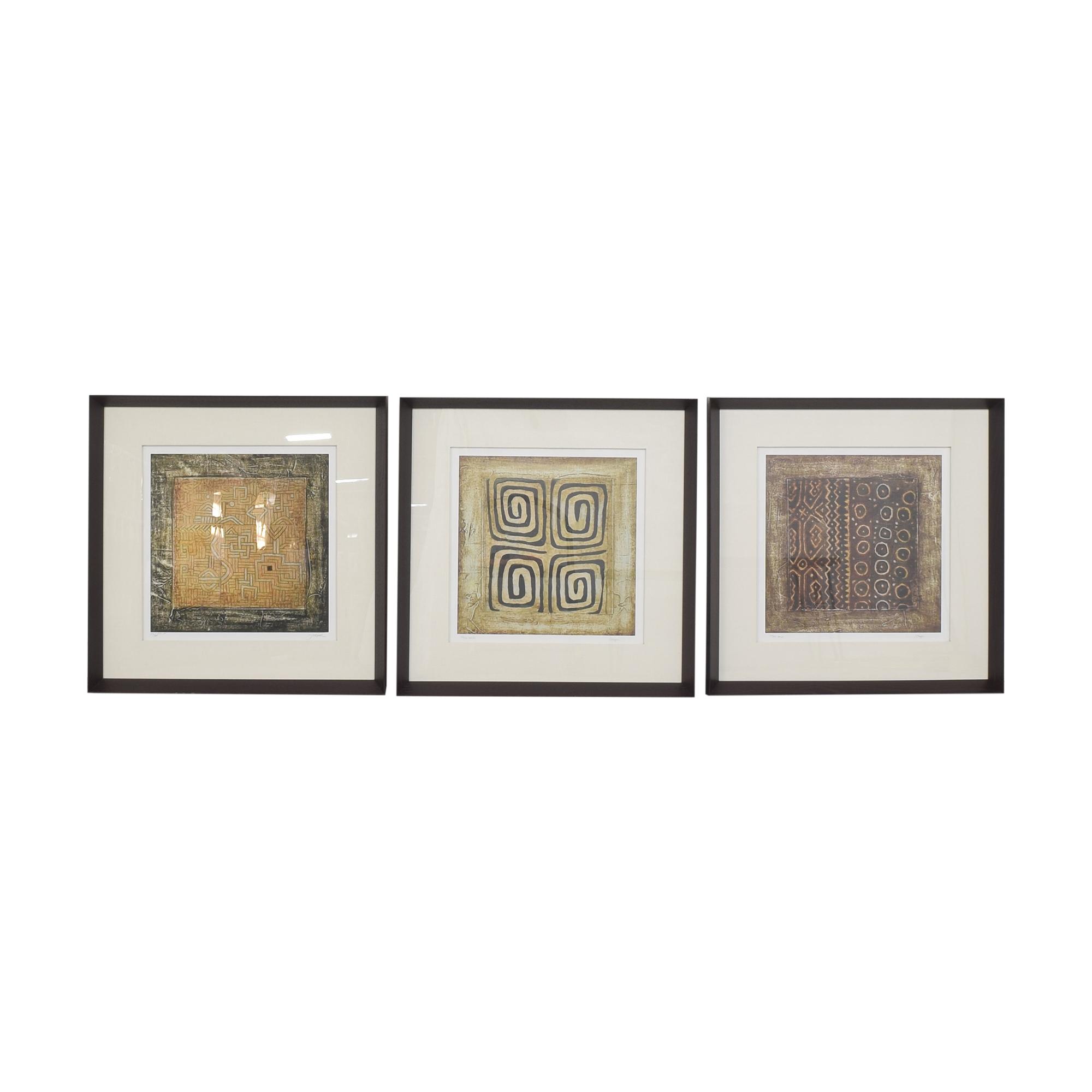 Ethan Allen Ethan Allen Cameroon Triptych Wall Art multi