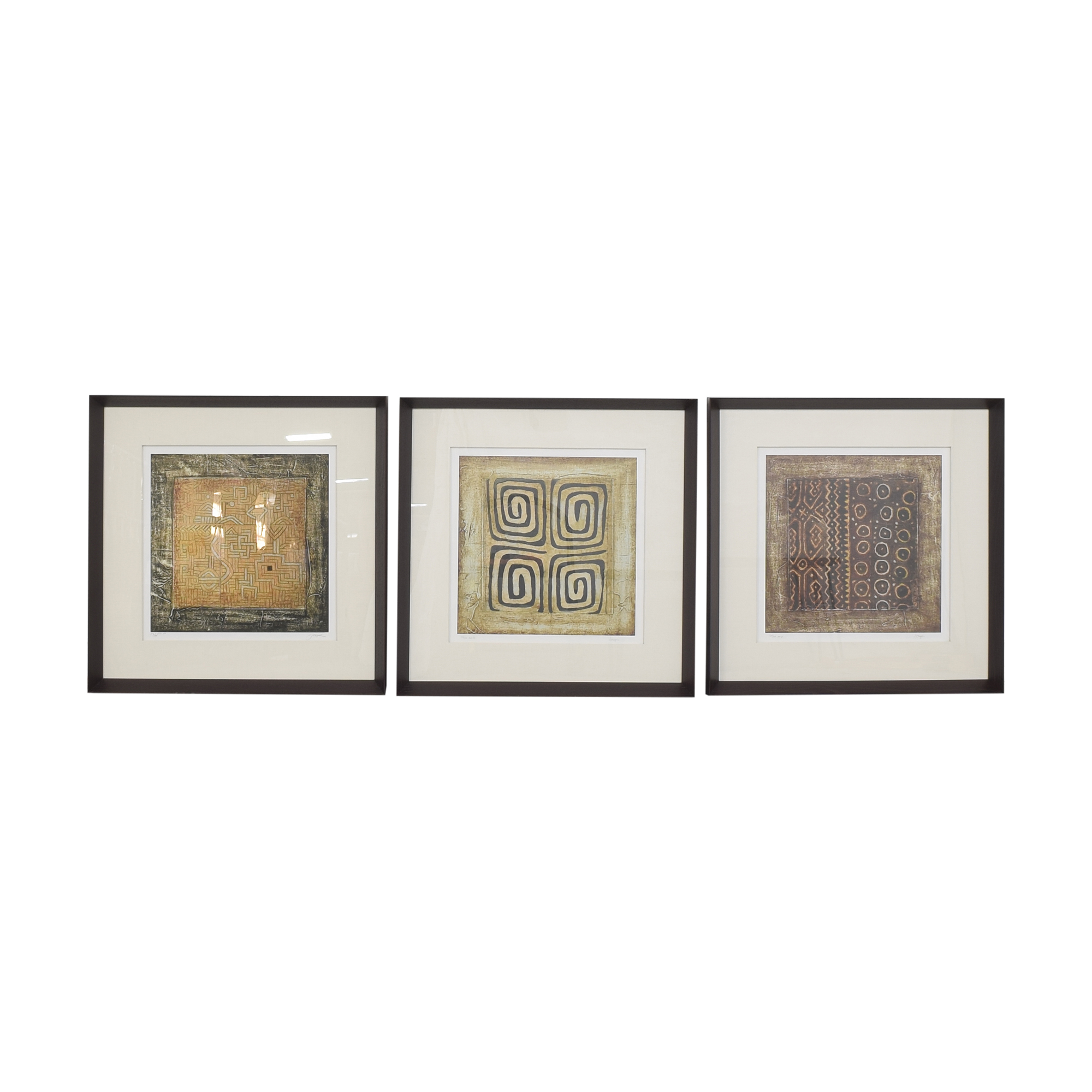 Ethan Allen Ethan Allen Cameroon Triptych Wall Art nyc
