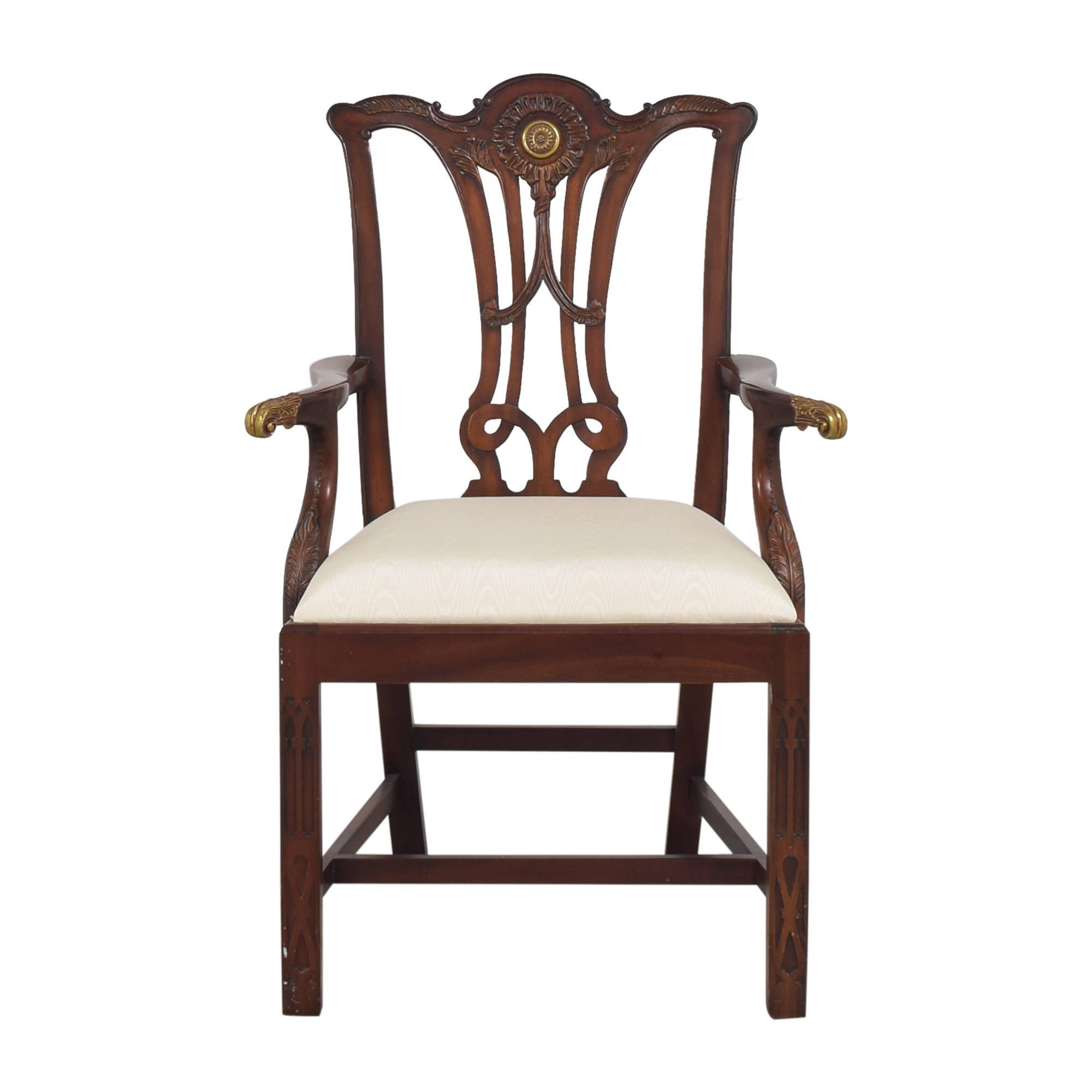 Maitland-Smith Maitland-Smith Carved Arm Chair Accent Chairs