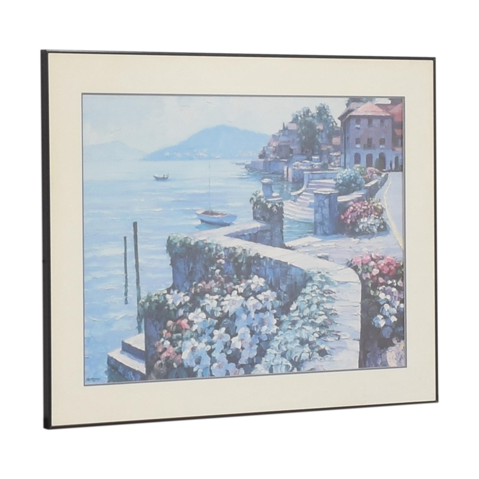 Il Lago di Como Framed Wall Art Wall Art