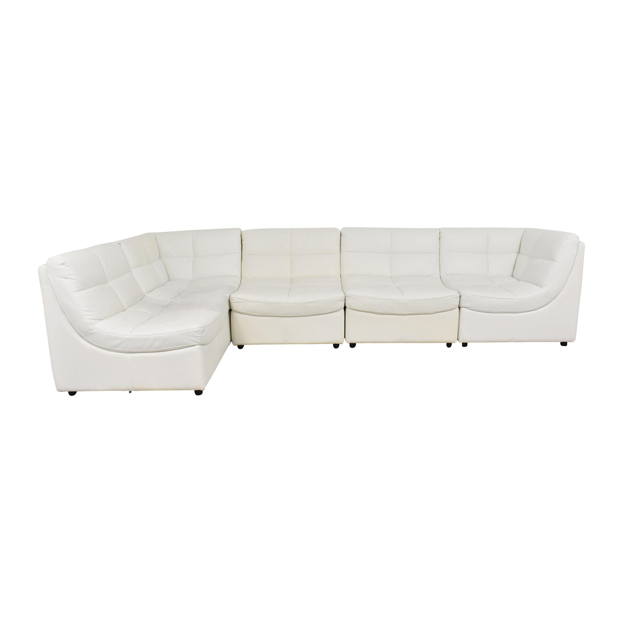 Corner Modular Sofa with Ottoman second hand
