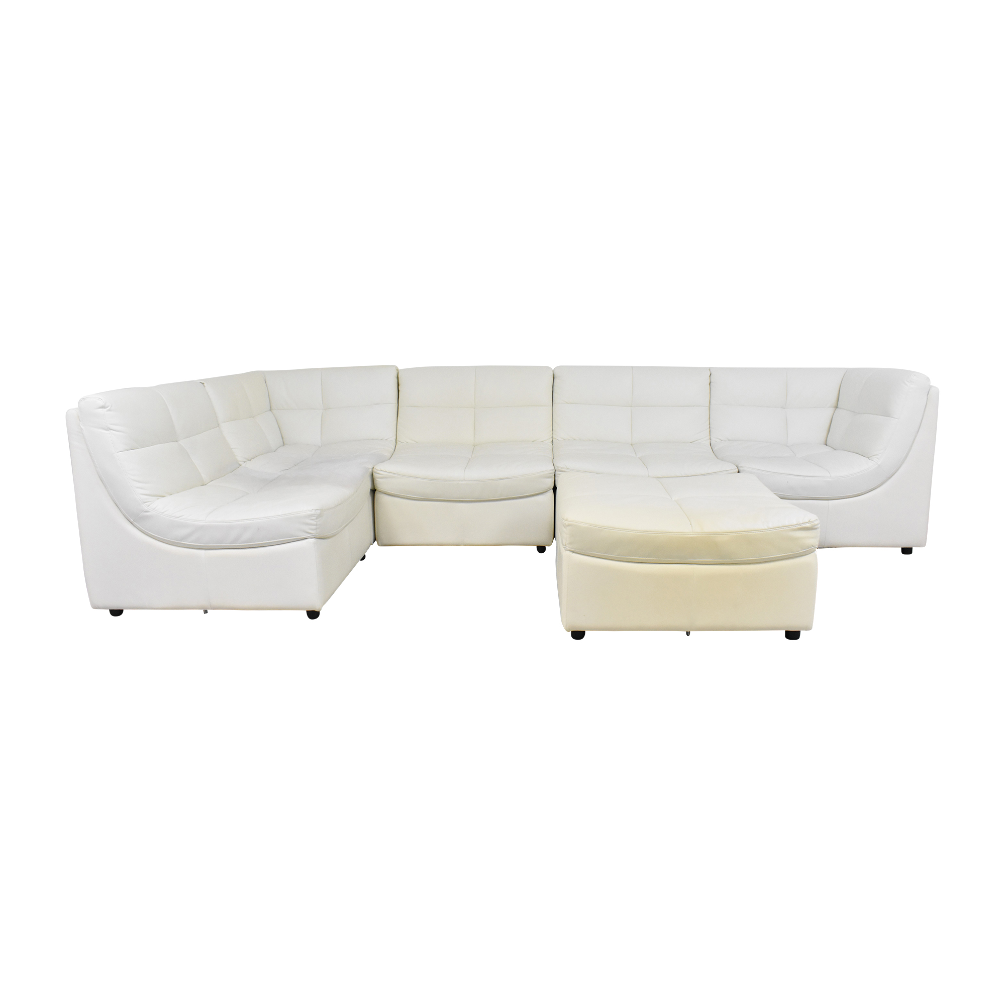 Corner Modular Sofa with Ottoman