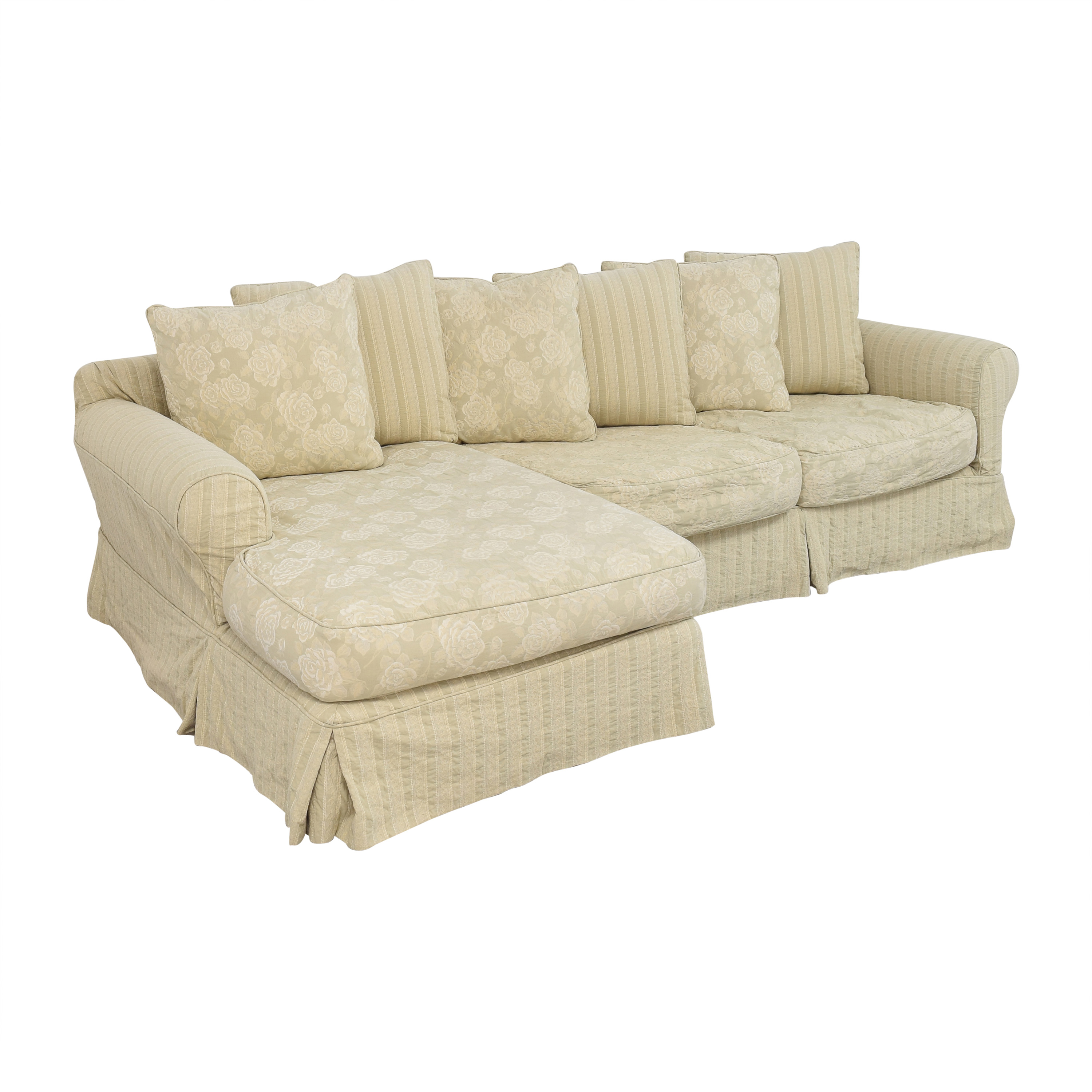 shop Cisco Brothers Slipcovered Chaise Sectional Sofa Cisco Brothers Sofas