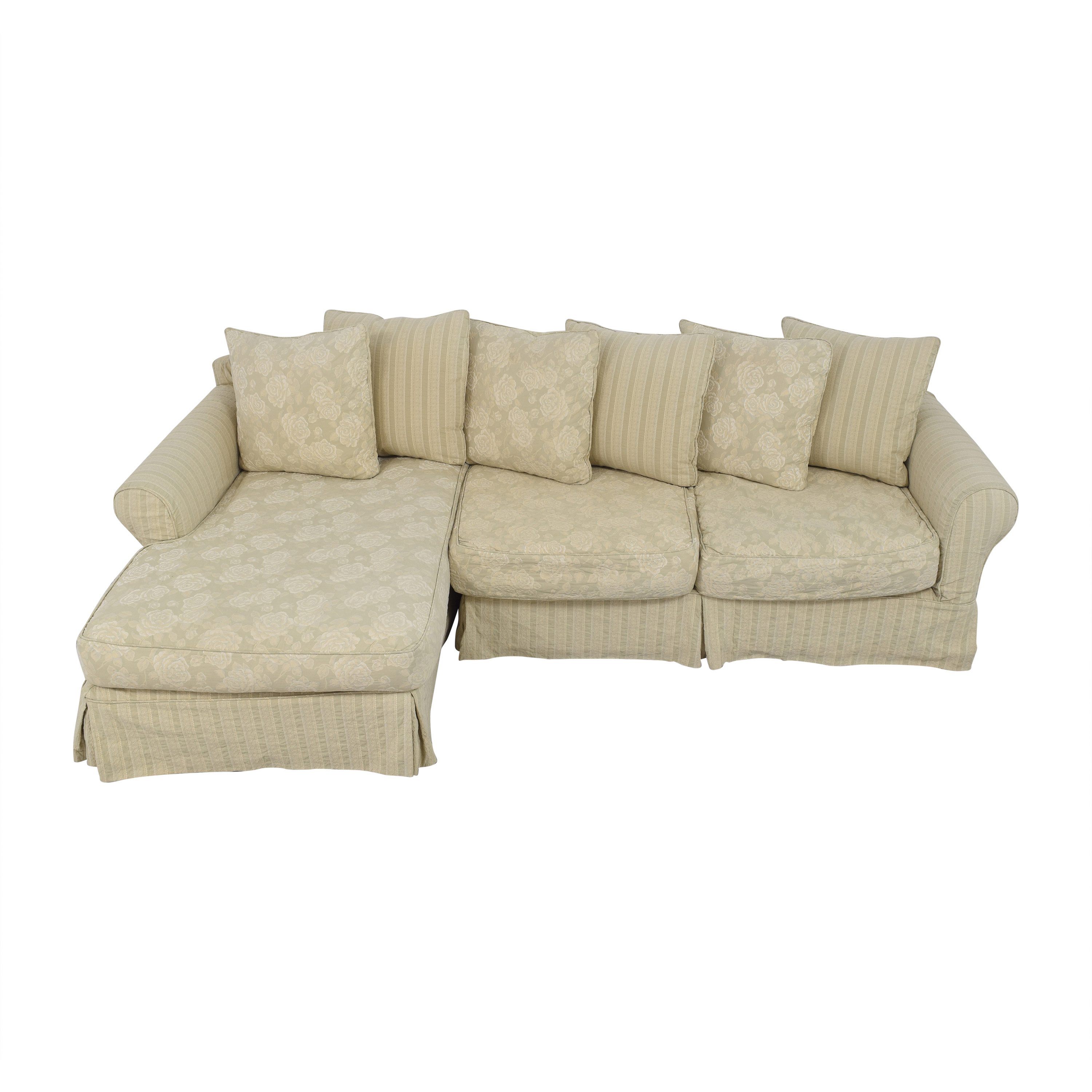 shop Cisco Brothers Slipcovered Chaise Sectional Sofa Cisco Brothers Sectionals