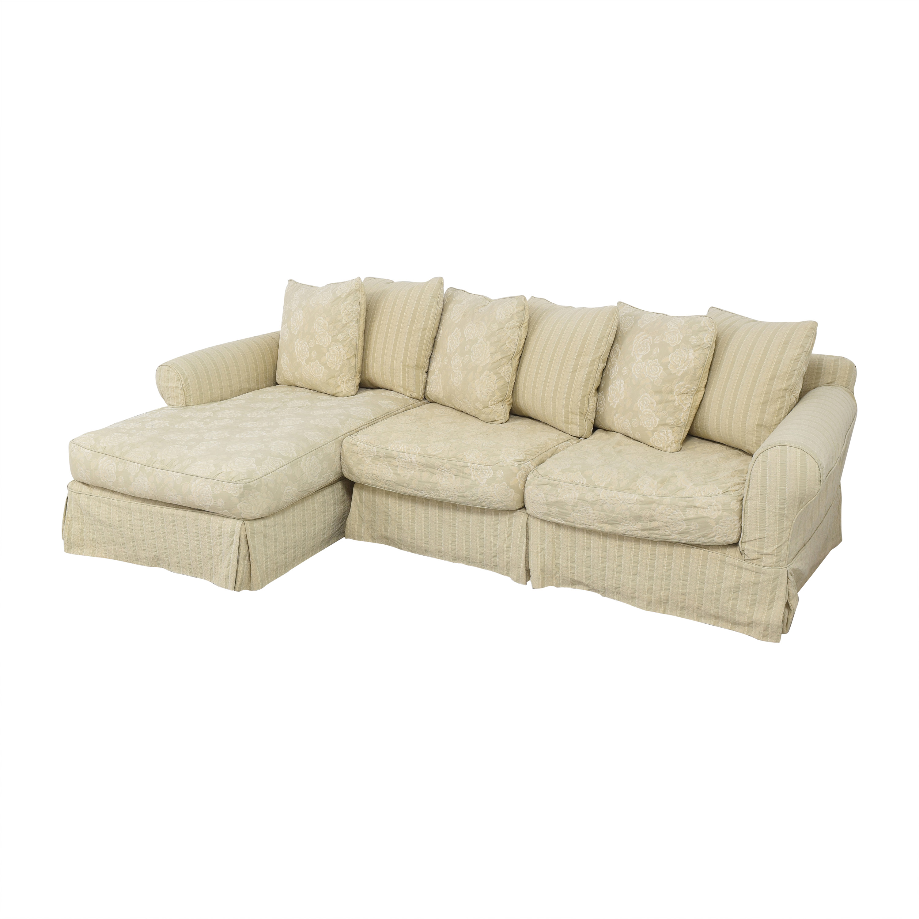 Cisco Brothers Cisco Brothers Slipcovered Chaise Sectional Sofa ct