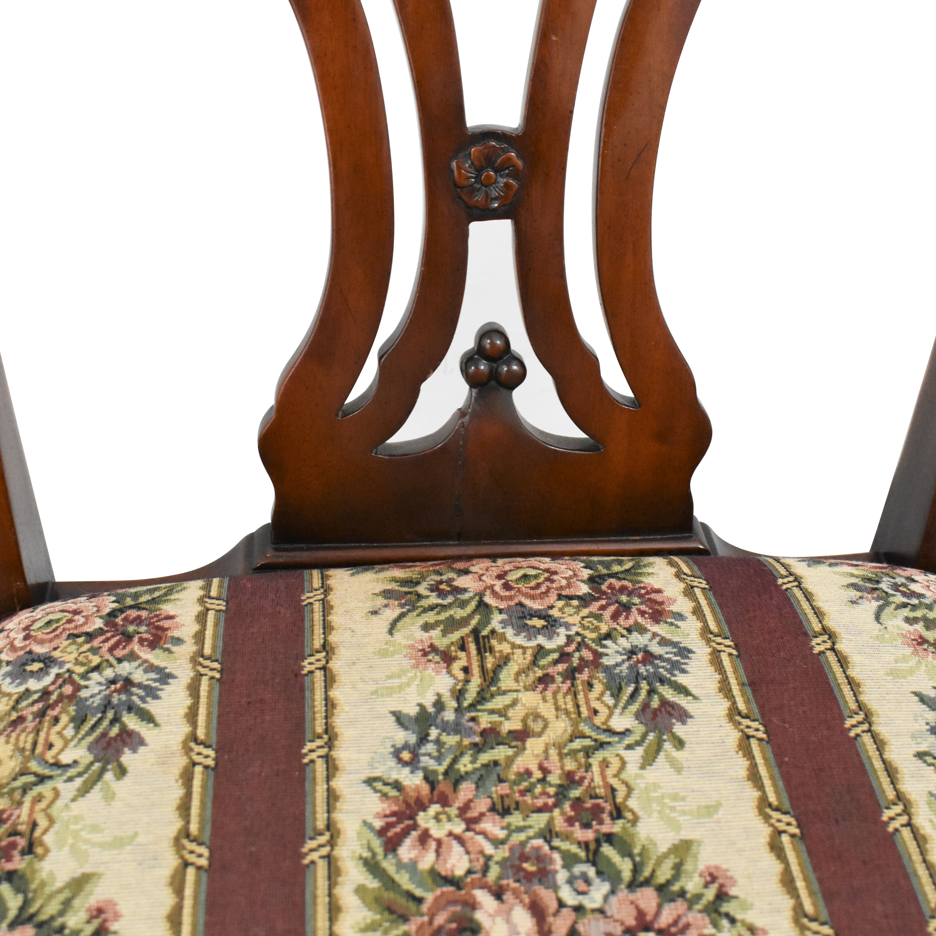 Maitland-Smith Maitland-Smith Chippendale Upholstered Dining Chairs