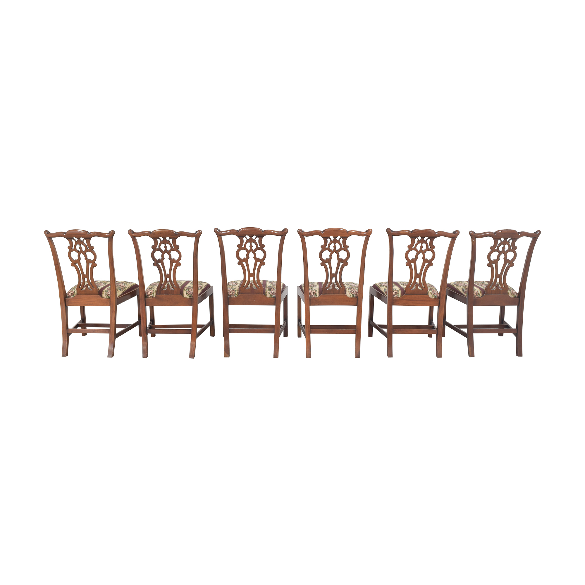 Maitland-Smith Chippendale Upholstered Dining Chairs / Chairs