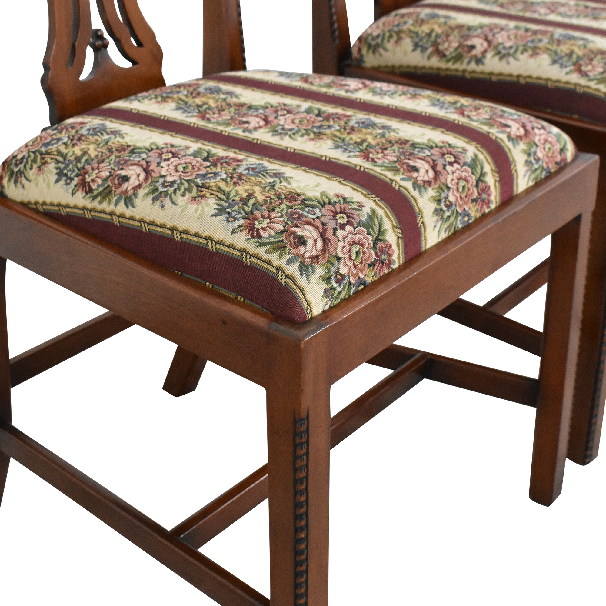 Maitland-Smith Maitland-Smith Chippendale Upholstered Dining Chairs Dining Chairs