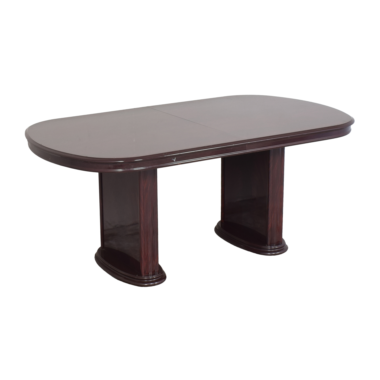 Raymour & Flanigan Raymour & Flanigan Two Pedestal Dining Table nj