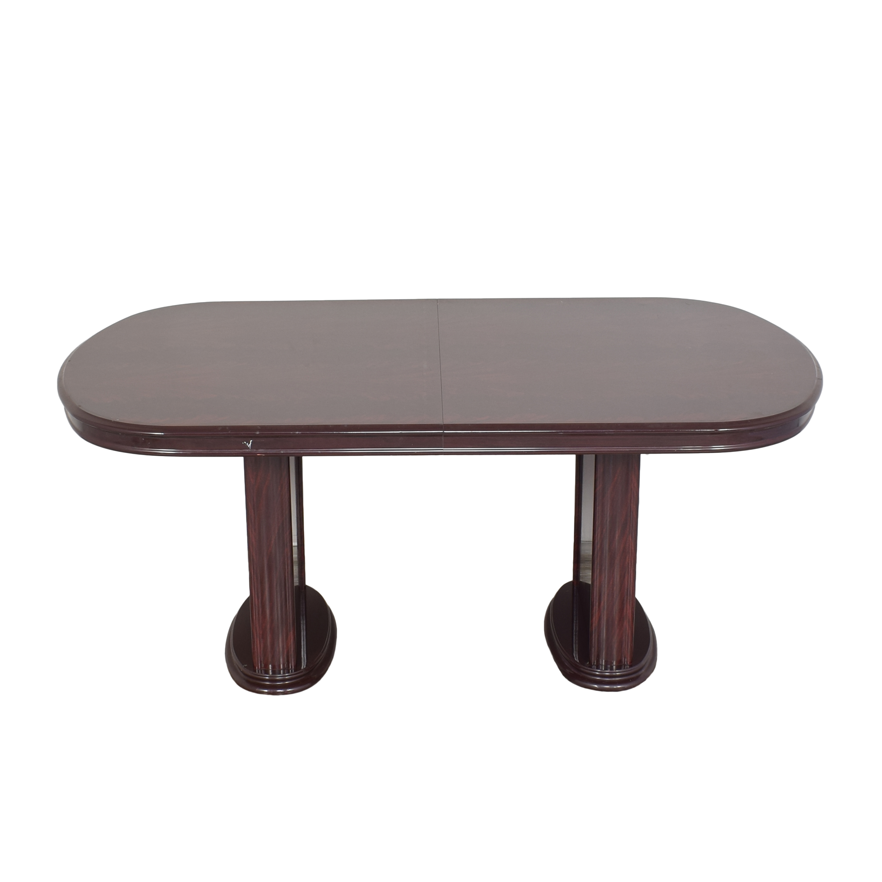 buy Raymour & Flanigan Two Pedestal Dining Table Raymour & Flanigan Dinner Tables
