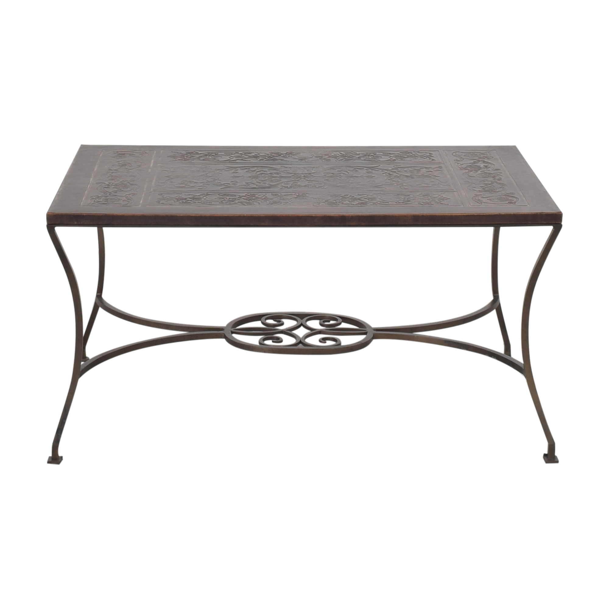 Embossed Inlay Coffee Table on sale