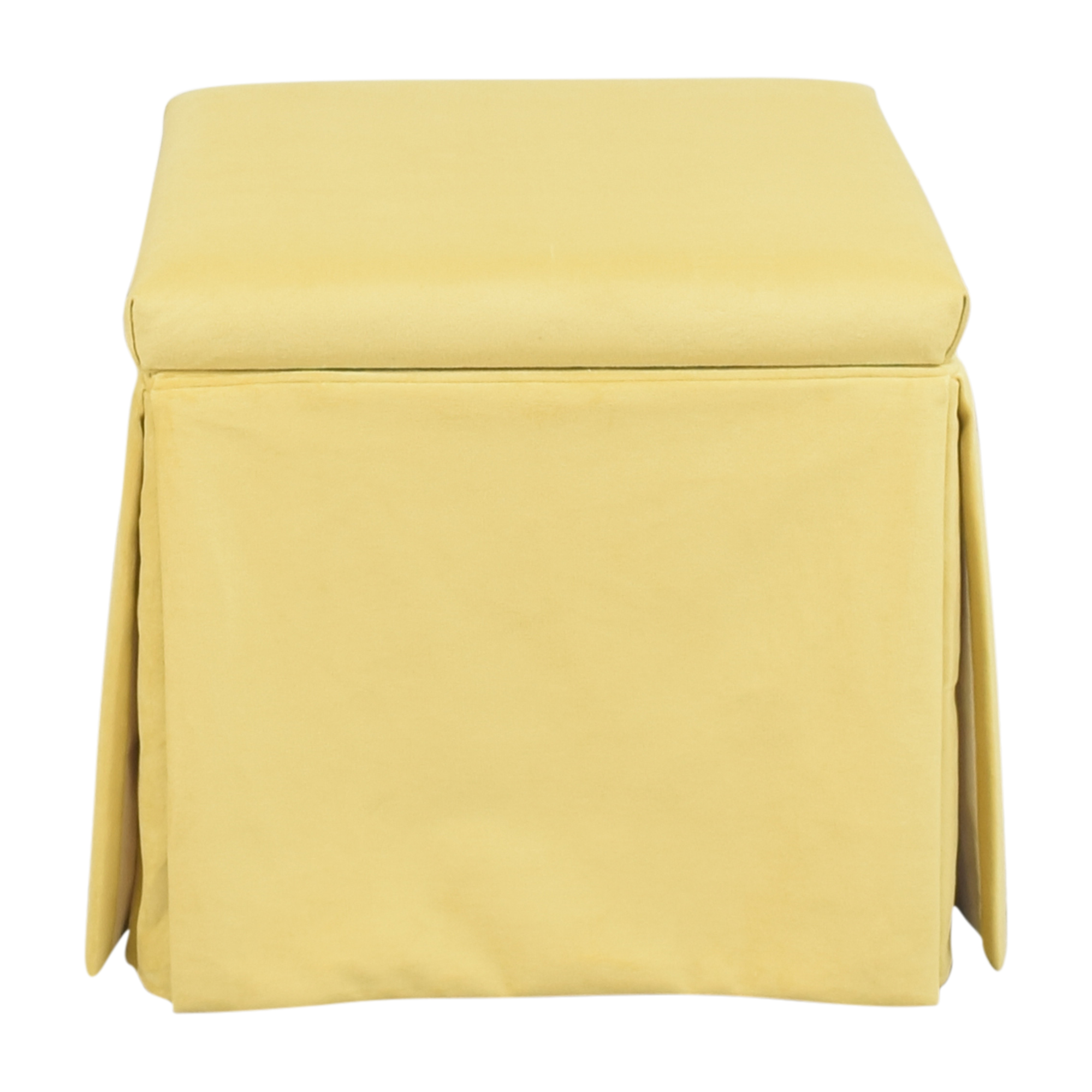 The Inside The Inside Skirted Storage Ottoman for sale
