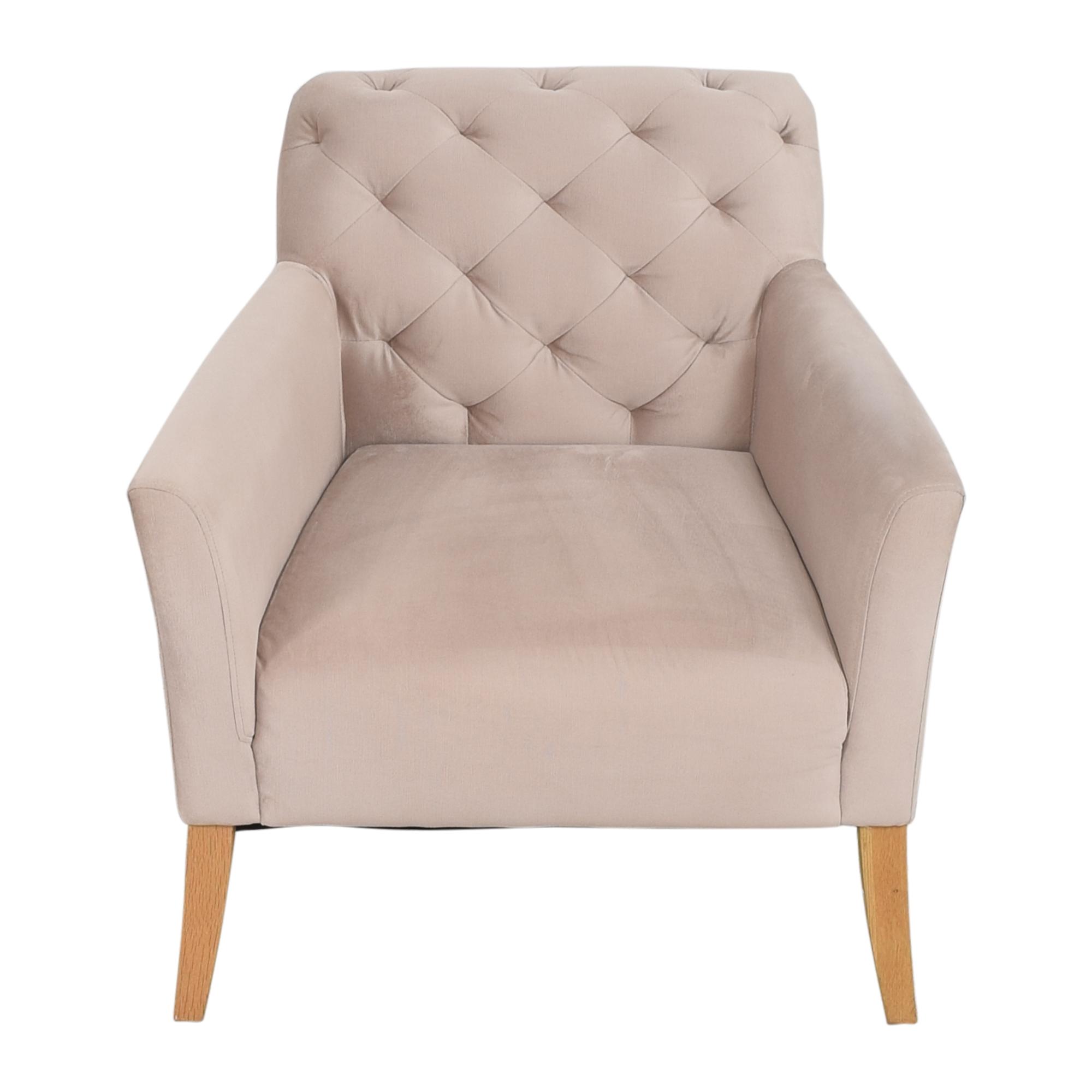 buy West Elm Elton Tufted Arm Chair West Elm