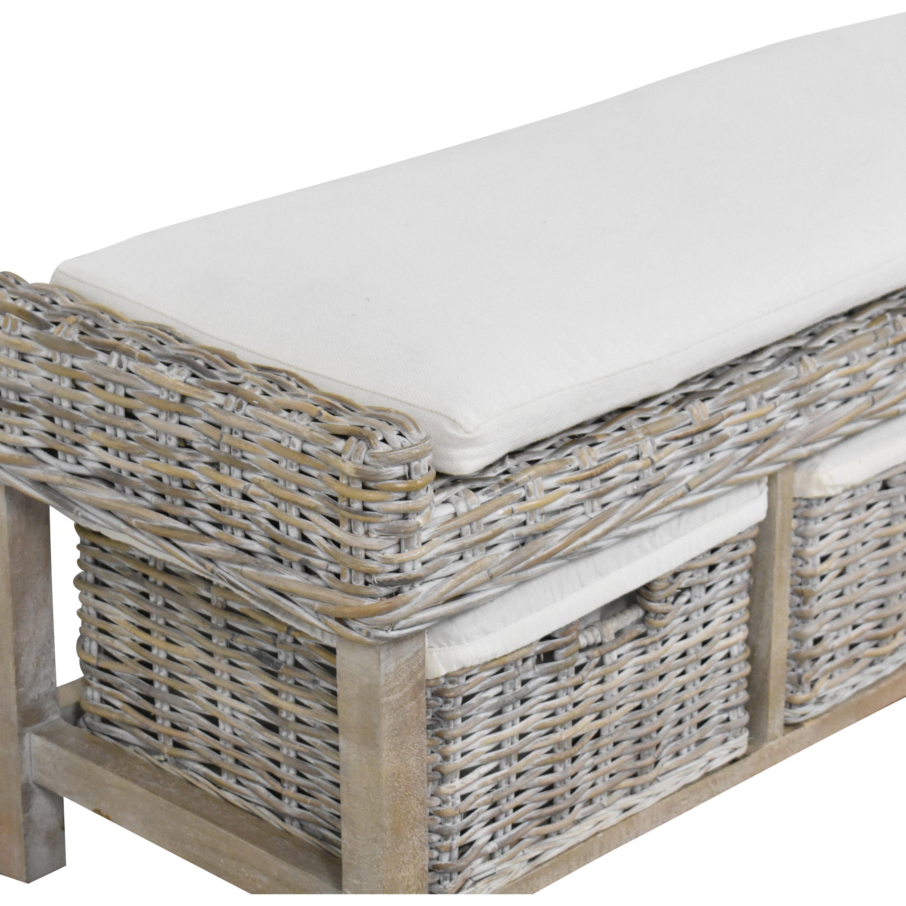 buy Wayfair Wayfair Sephina Upholstered Cubby Storage Bench online
