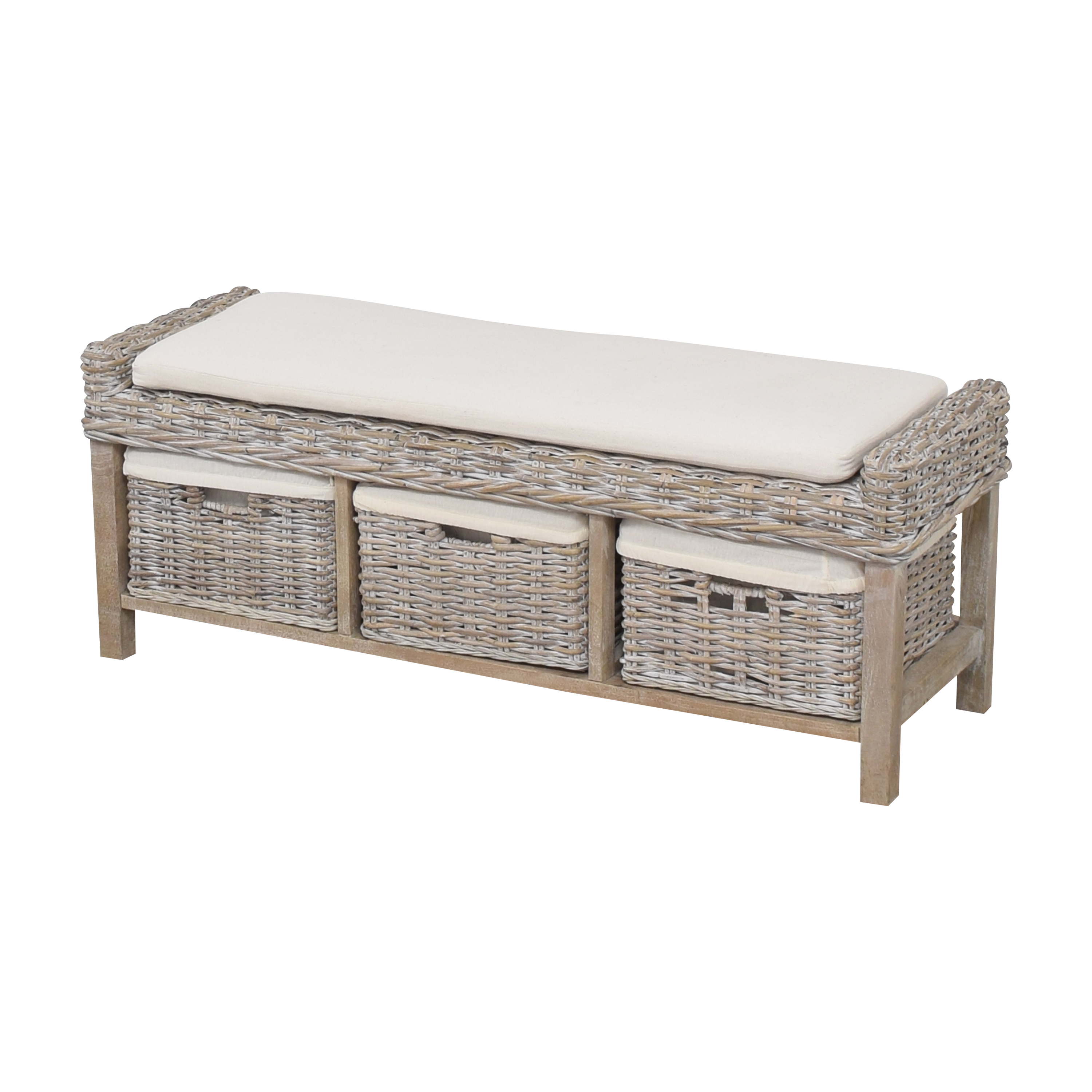 shop Wayfair Wayfair Sephina Upholstered Cubby Storage Bench online