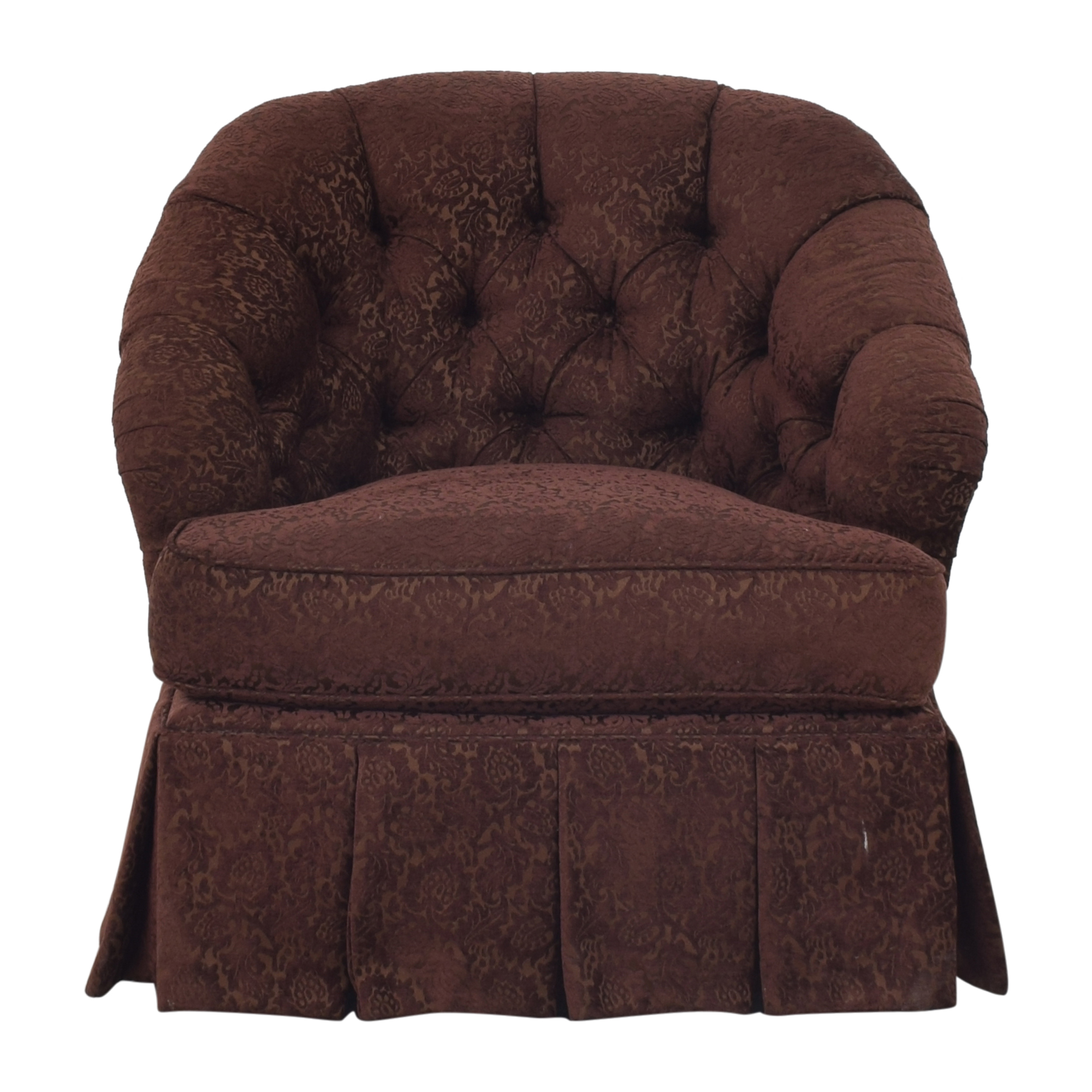 Ethan Allen Ethan Allen Diamond Tufted Swivel Chair nyc
