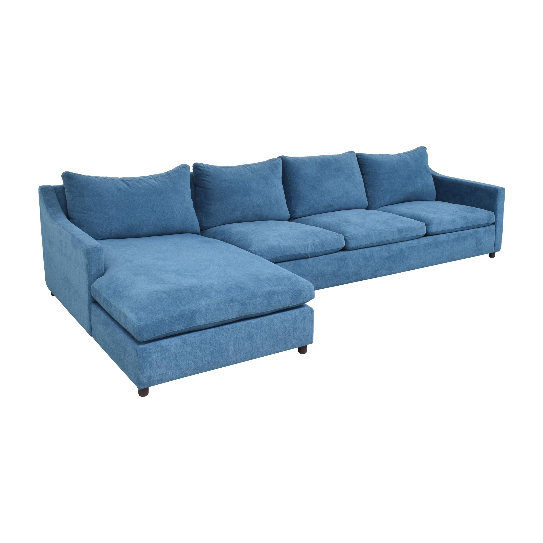 buy BenchMade Modern Johnny Homemaker Sectional Sofa with Chaise BenchMade Modern Sectionals