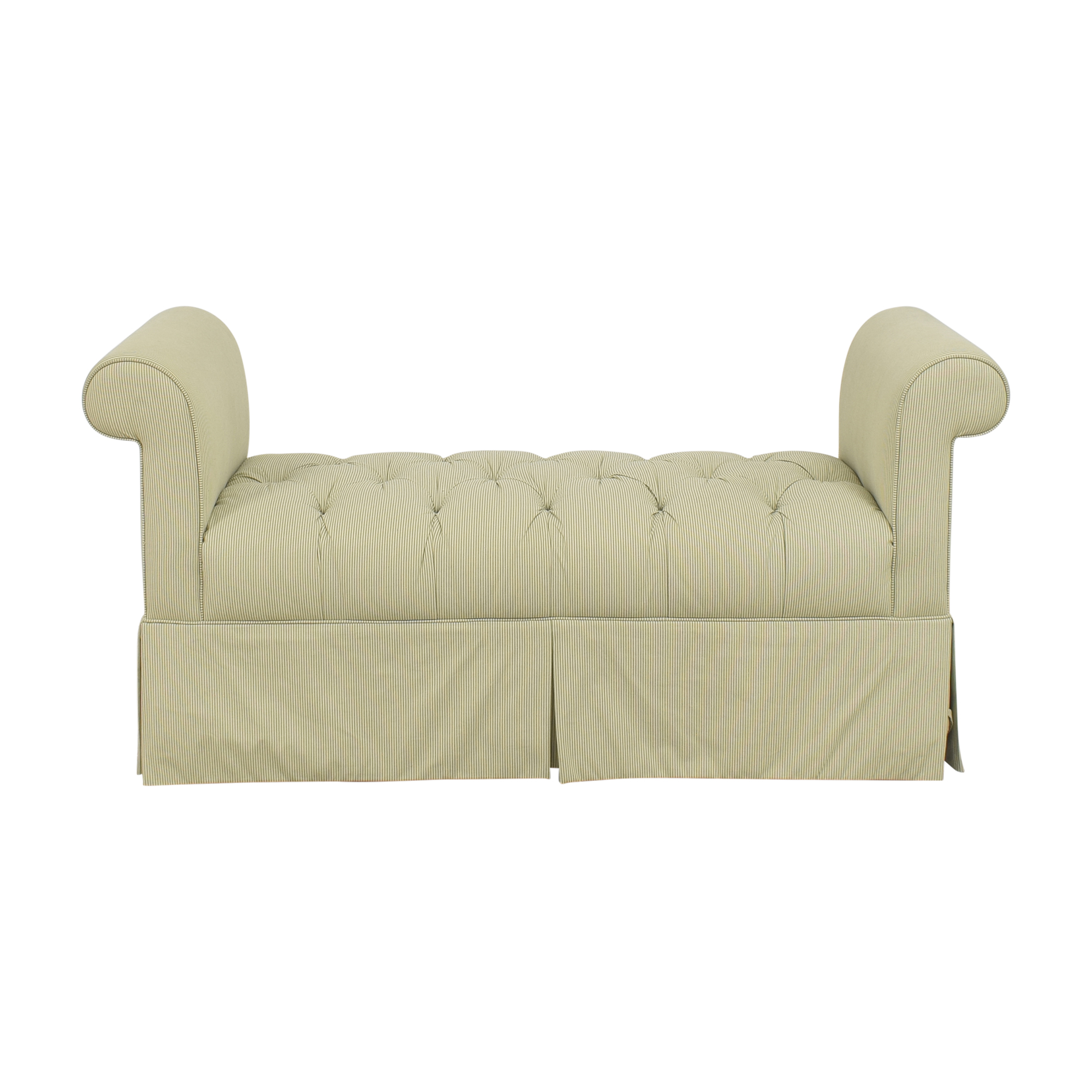 Ethan Allen Tufted Skirted Bench / Chairs