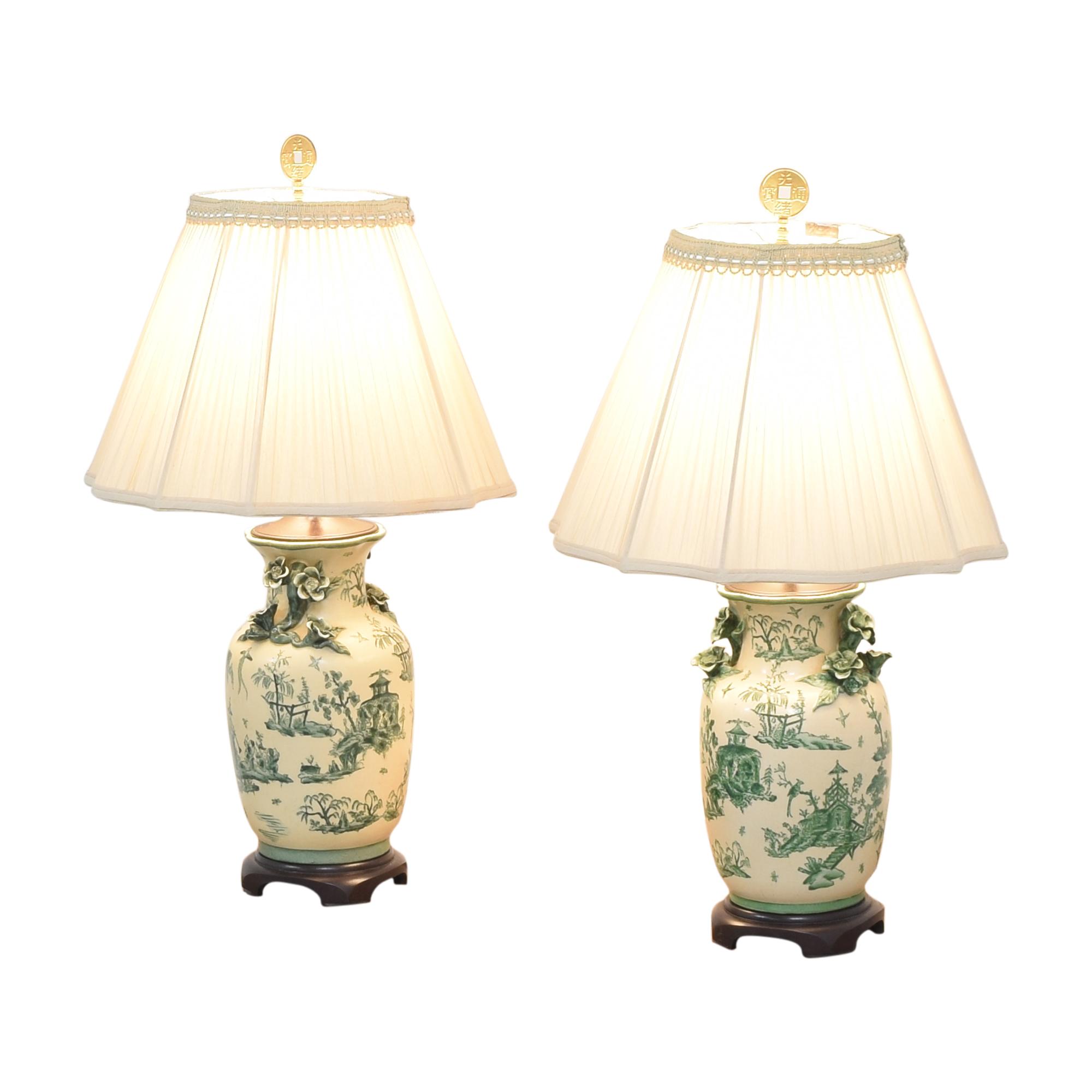The Bradburn Gallery The Bradburn Gallery Oriental Vase Table Lamps multi
