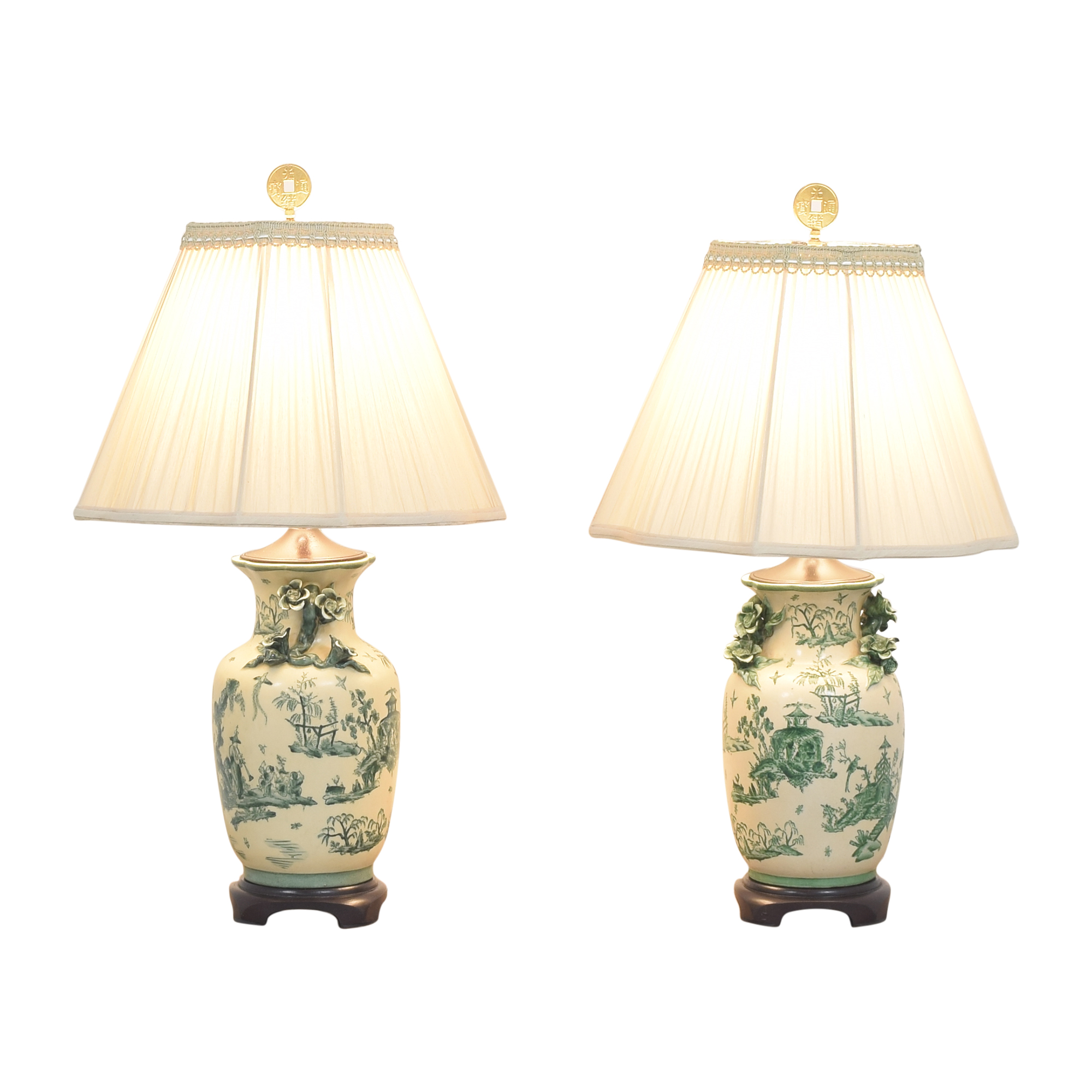 The Bradburn Gallery The Bradburn Gallery Oriental Vase Table Lamps used