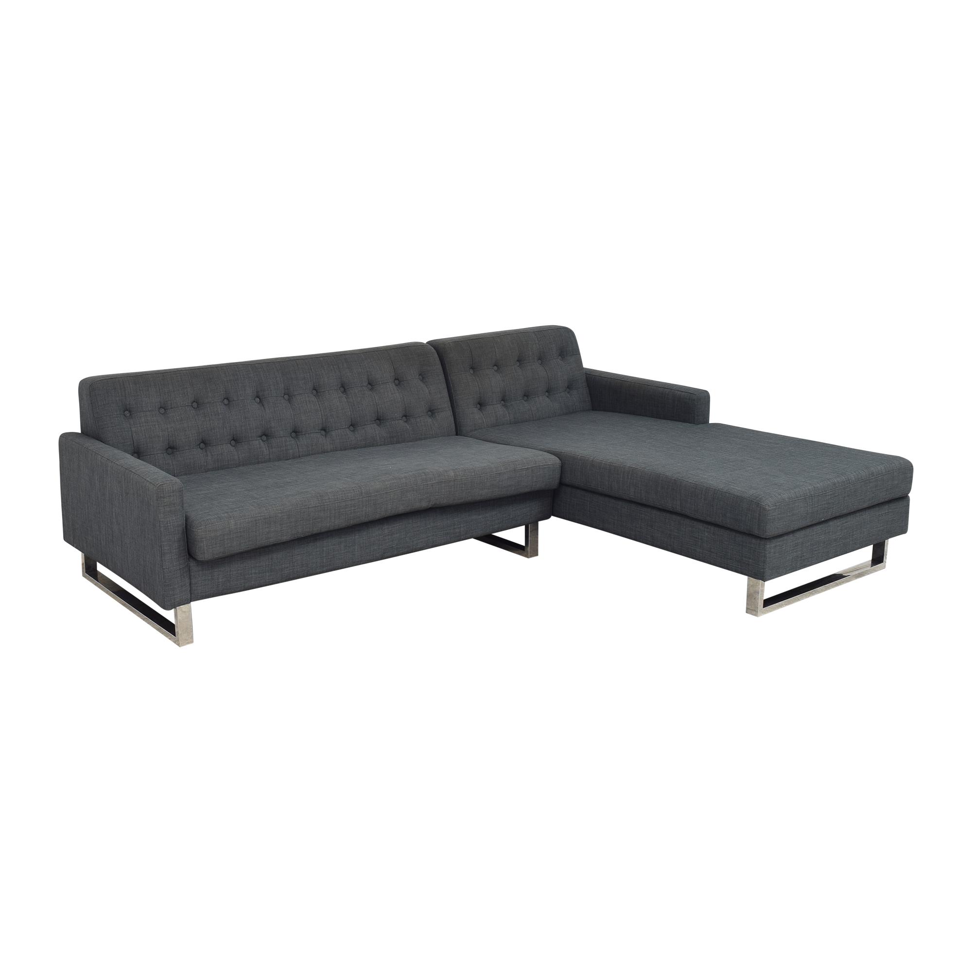 Pangea Home Nolan Right Arm Sectional Sofa sale