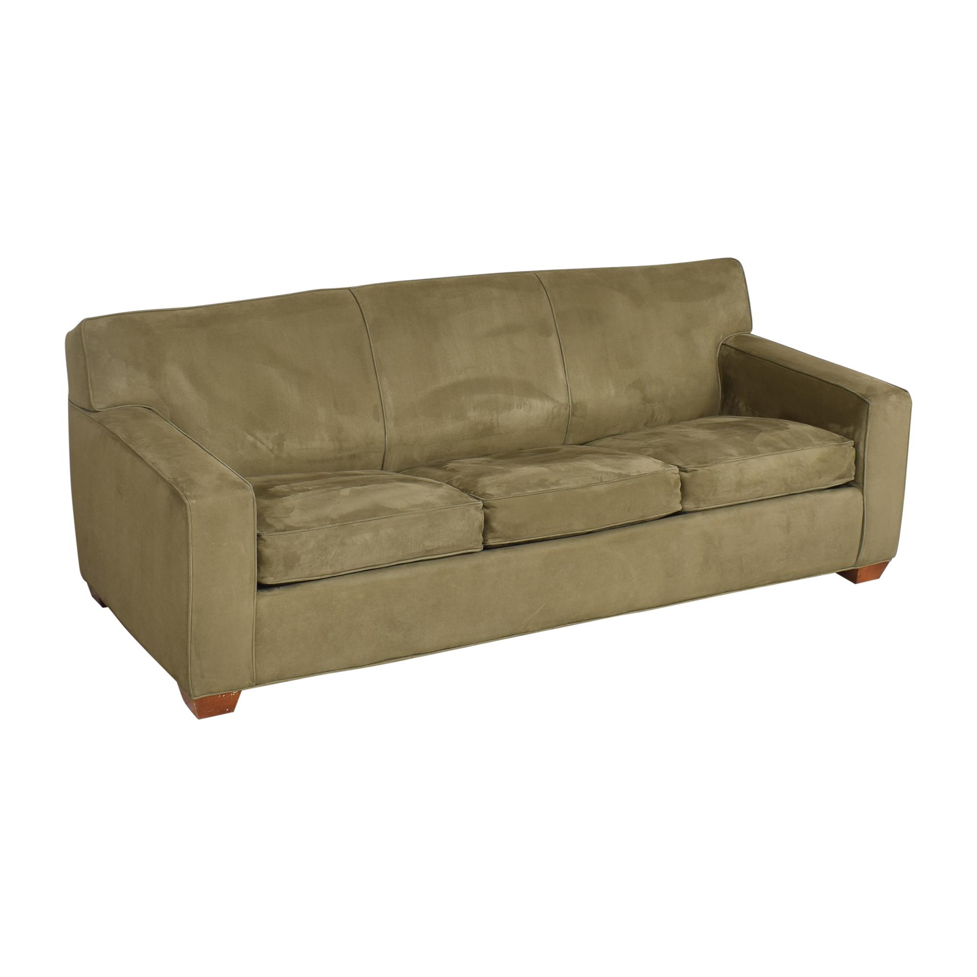 buy Crate & Barrel Crate & Barrel Three Cushion Sleeper Sofa  online