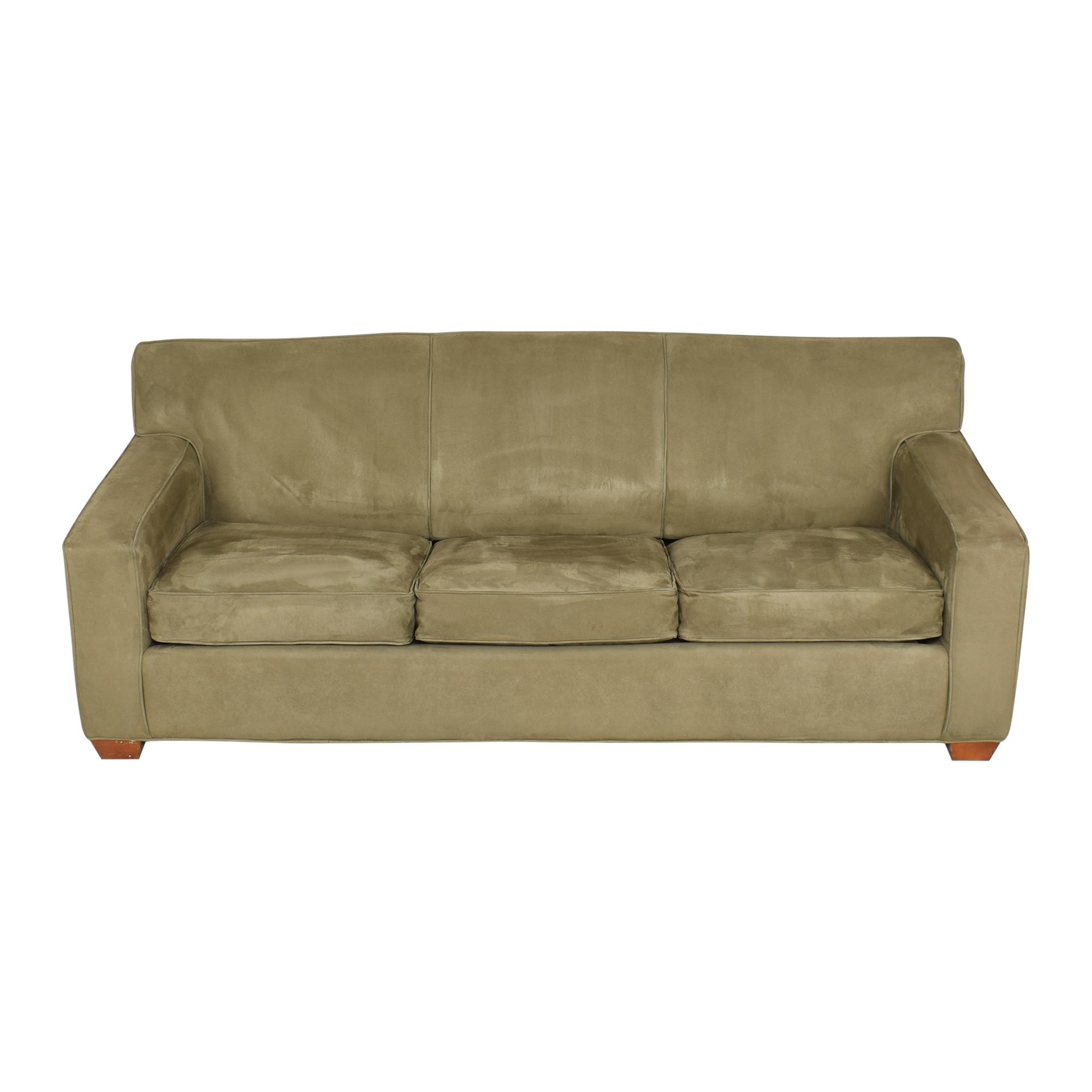 Crate & Barrel Crate & Barrel Three Cushion Sleeper Sofa  discount