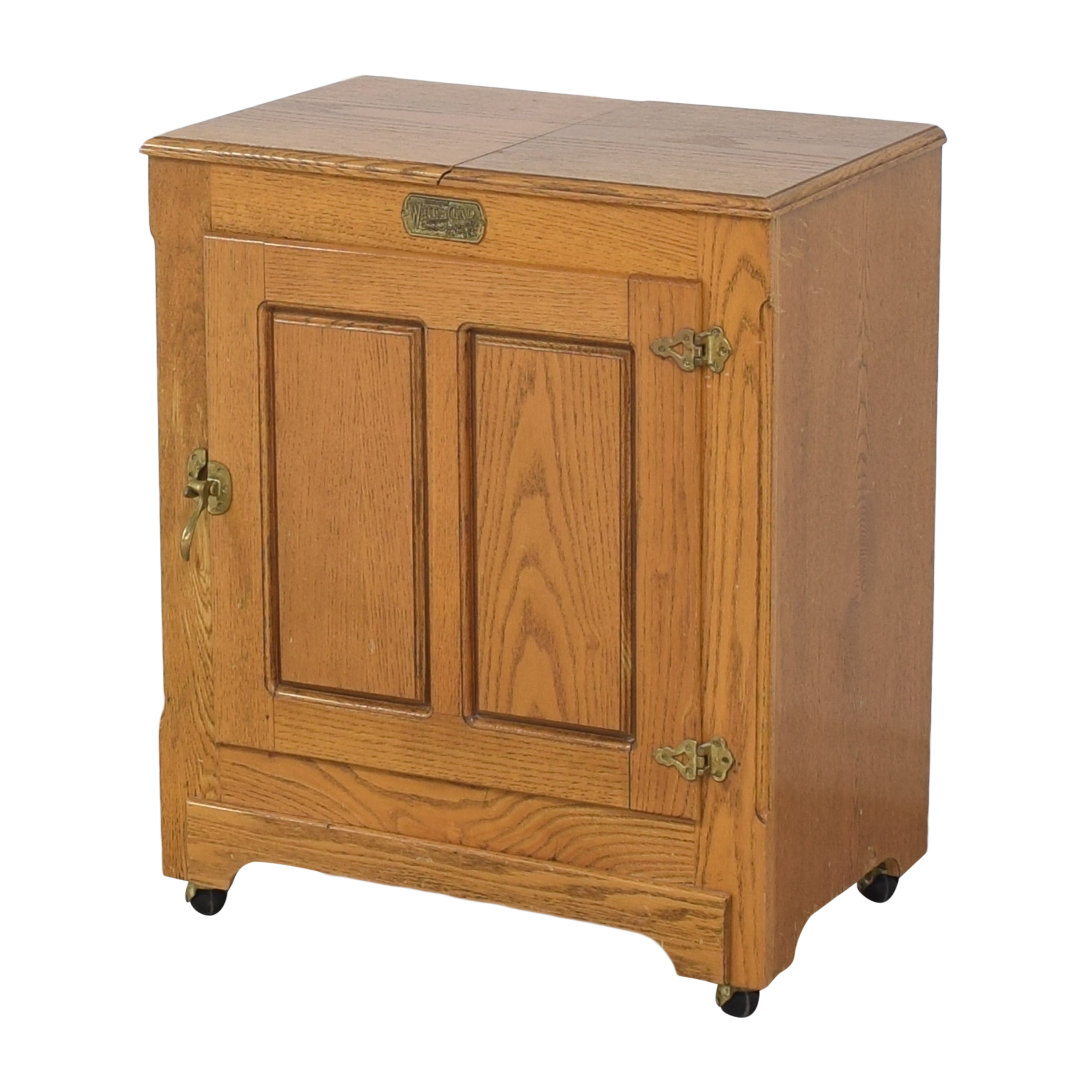 Simmons Hardware Simmons Hardware White Clad Ice Box Wine Cabinet on Casters discount