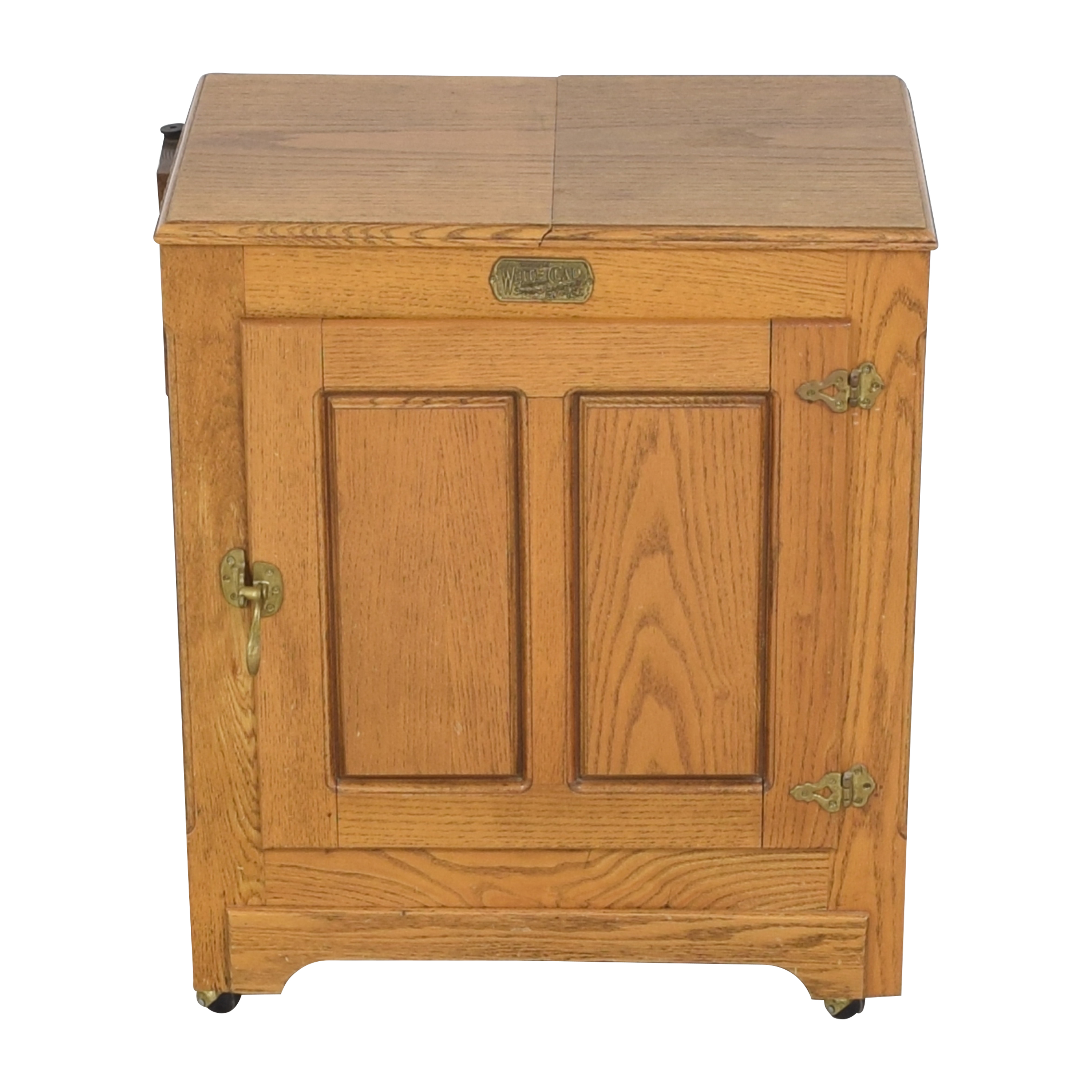 shop Simmons Hardware Simmons Hardware White Clad Ice Box Wine Cabinet on Casters online