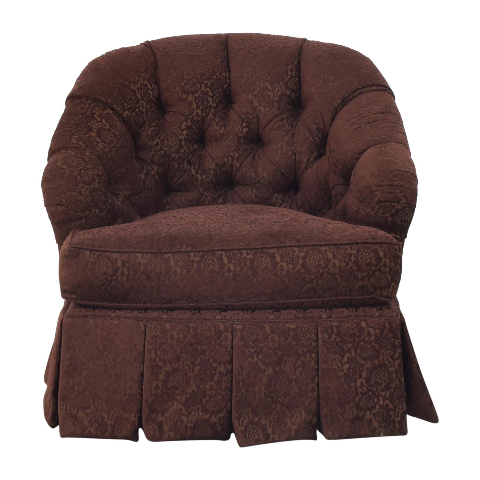 Ethan Allen Ethan Allen Diamond Tufted Swivel Chair nj