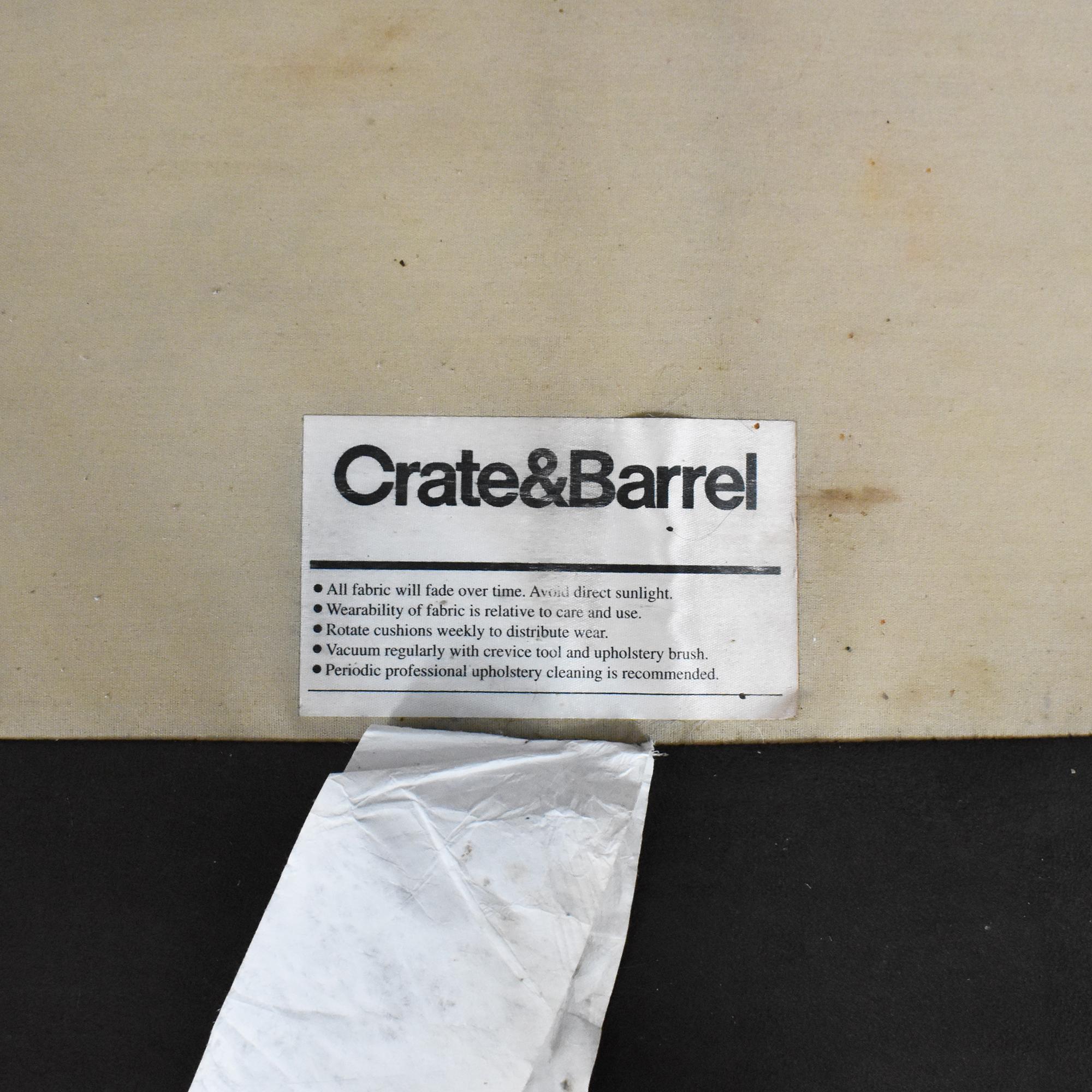 buy Crate & Barrel Crate & Barrel Barrett Two Cushion Sofa online