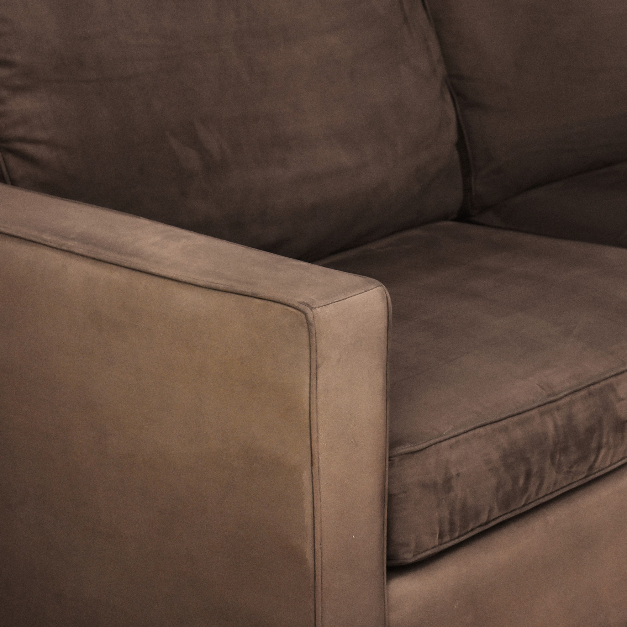 buy Crate & Barrel Barrett Two Cushion Sofa Crate & Barrel