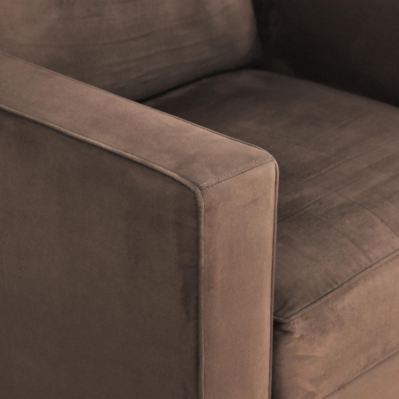 Crate & Barrel Barrett Track Arm Chair / Chairs