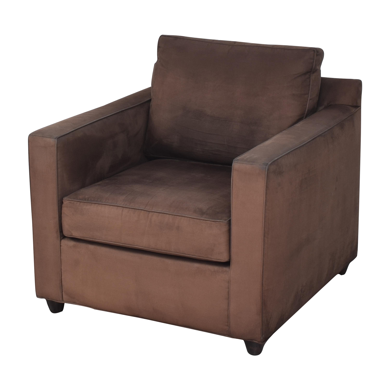 Crate & Barrel Crate & Barrel Barrett Track Arm Chair brown