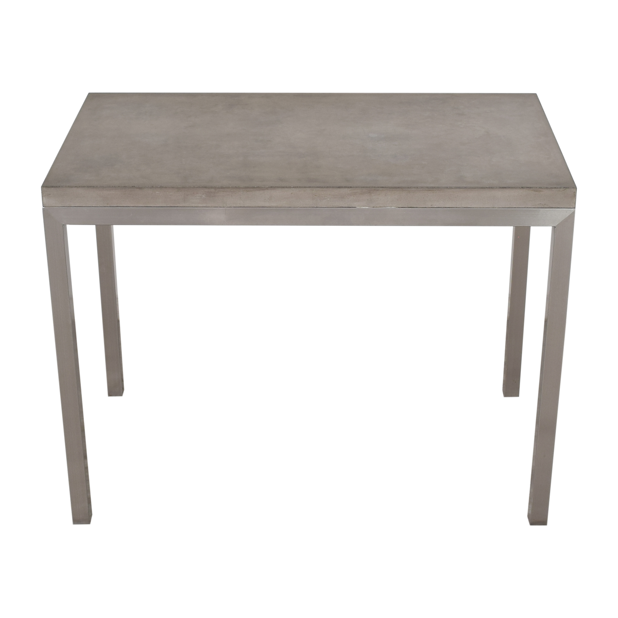 Crate & Barrel Crate & Barrel Parsons High Dining Table silver & grey