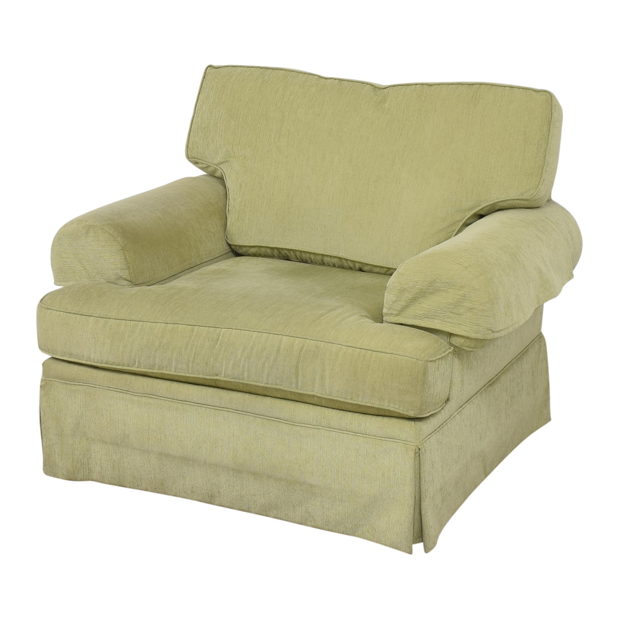 Flexsteel Flexsteel Skirted Chair and a Half Sofas