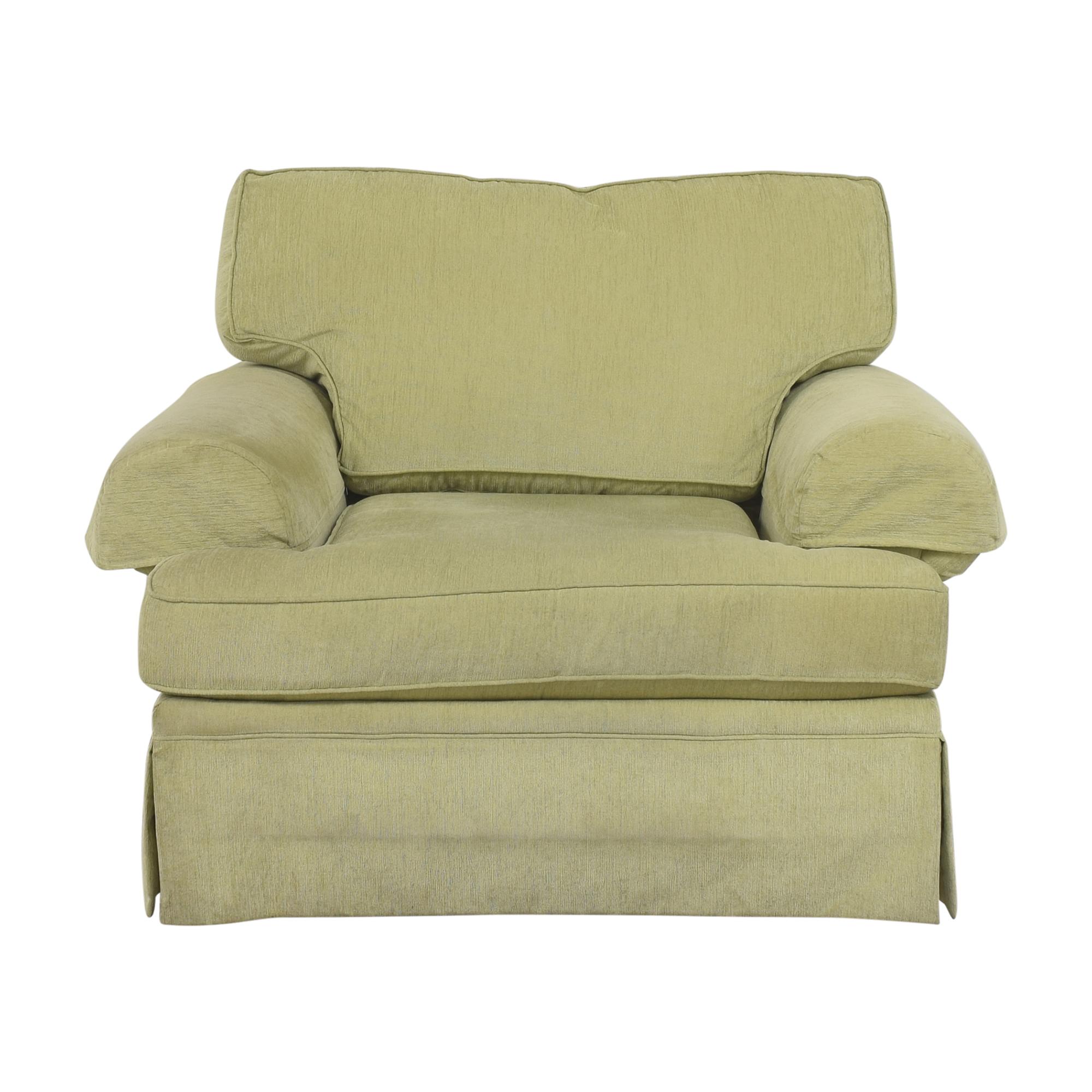 buy Flexsteel Skirted Chair and a Half Flexsteel
