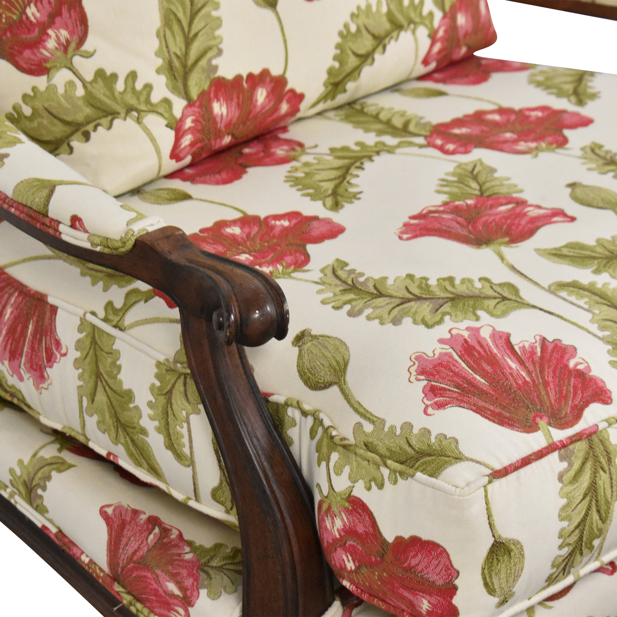 Clayton Marcus Clayton Marcus Floral Chair with Ottoman second hand
