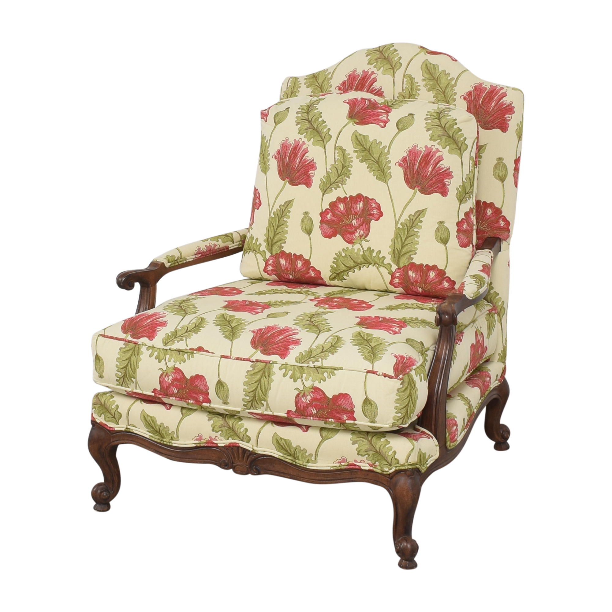 Clayton Marcus Clayton Marcus Floral Chair with Ottoman for sale