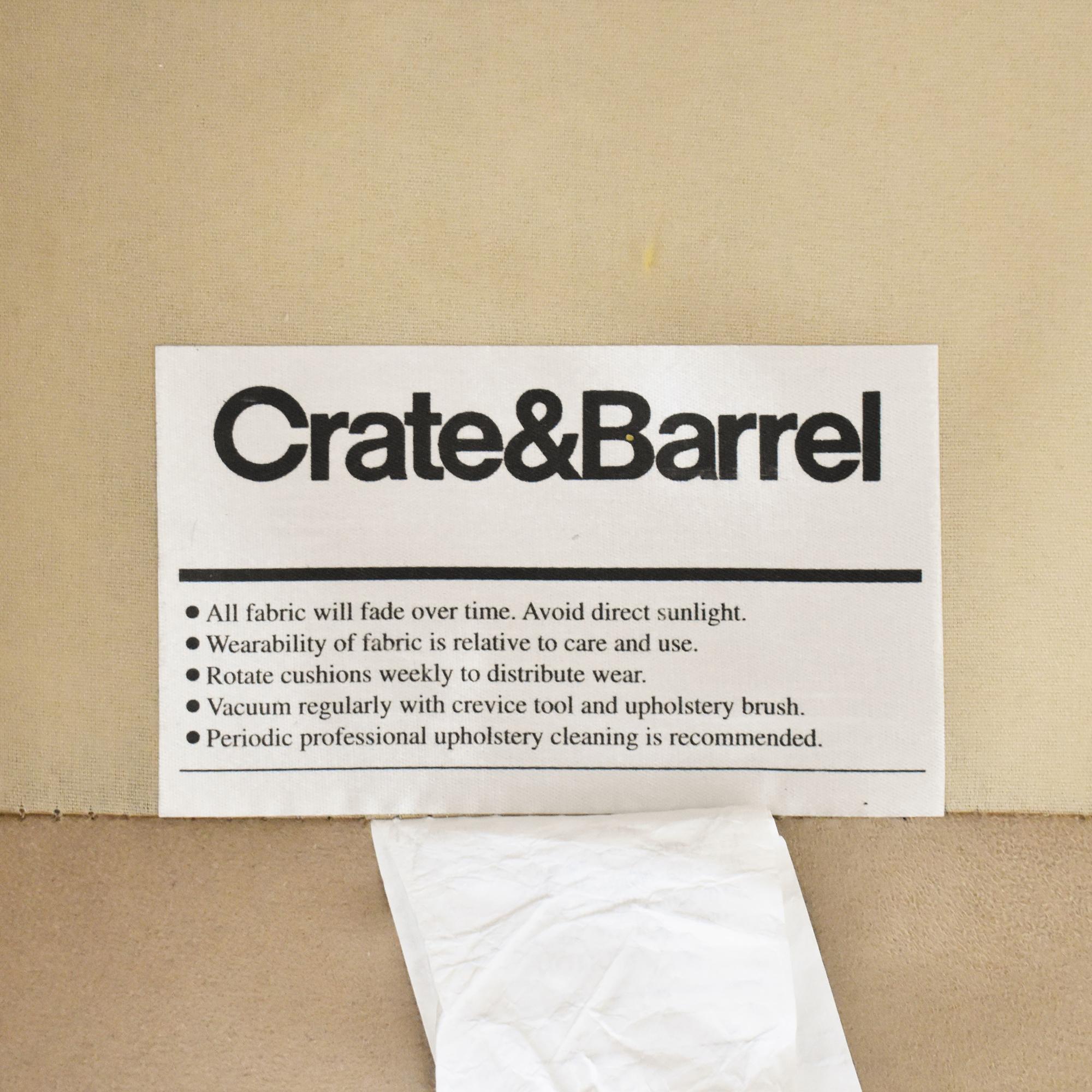 Crate & Barrel Crate & Barrel Barrett Chaise Sectional Sofa second hand
