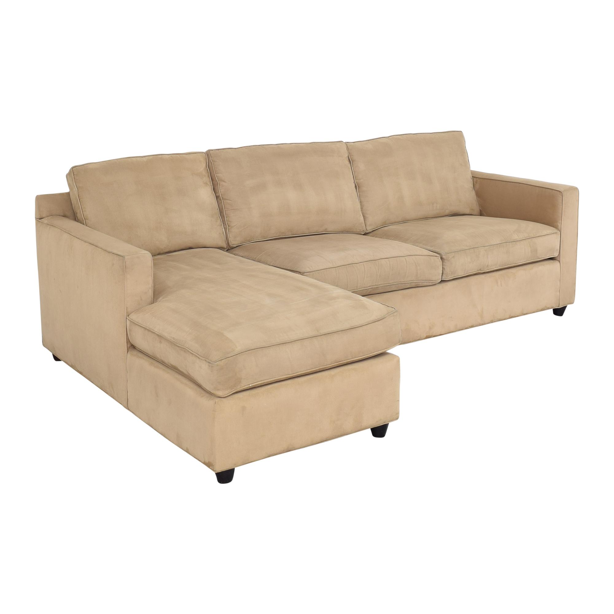 Crate & Barrel Crate & Barrel Barrett Chaise Sectional Sofa dimensions