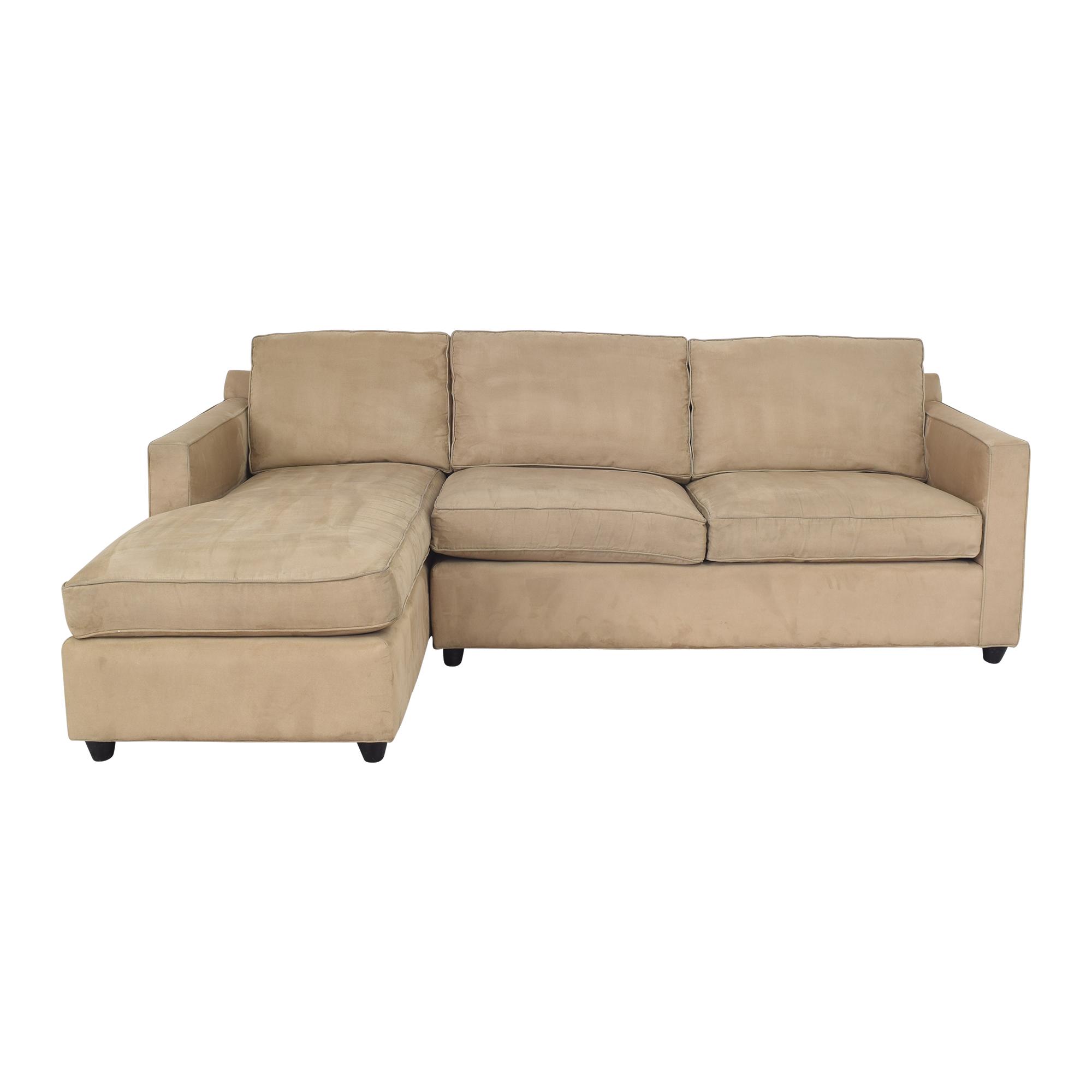 Crate & Barrel Crate & Barrel Barrett Chaise Sectional Sofa brown