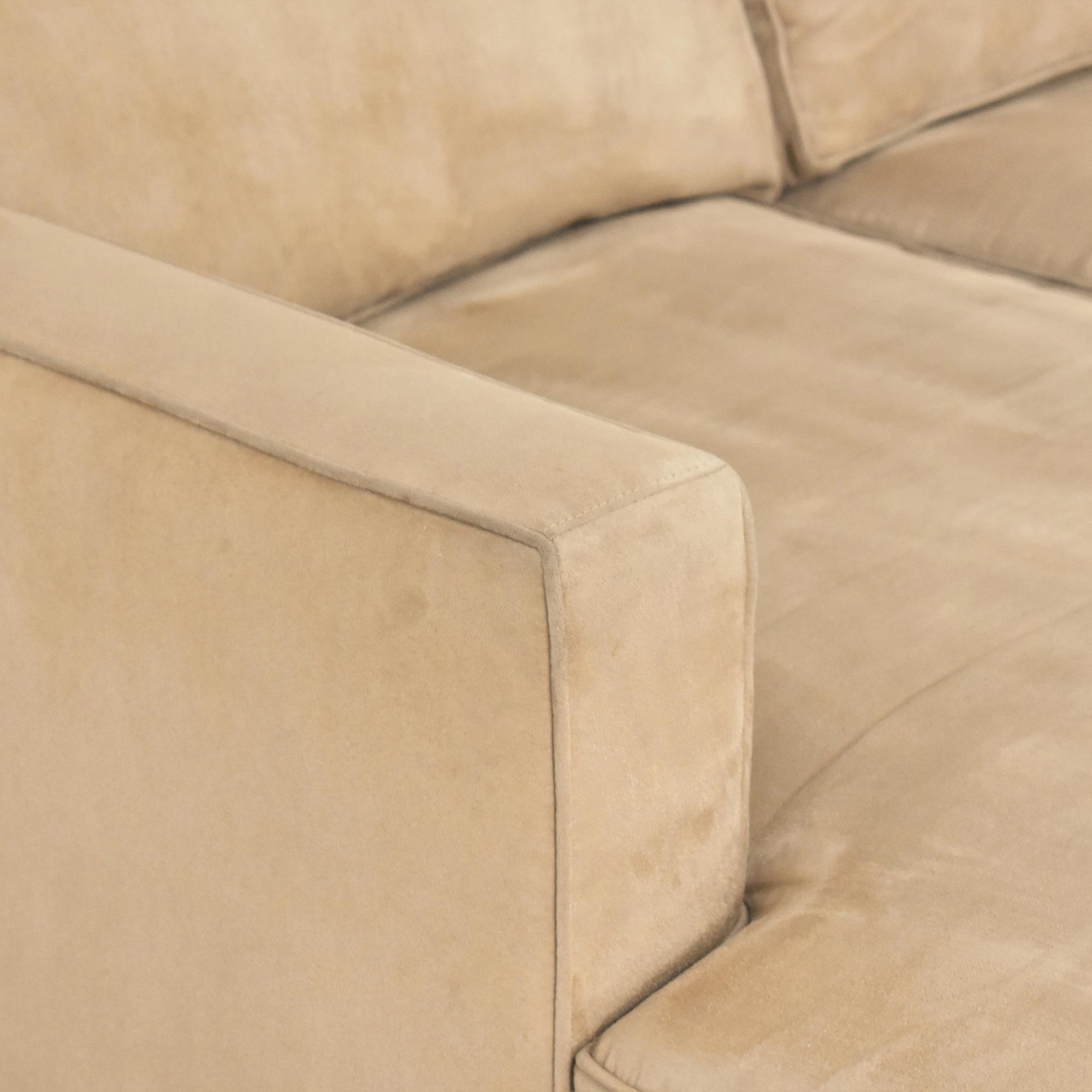 Crate & Barrel Crate & Barrel Barrett Chaise Sectional Sofa Sectionals
