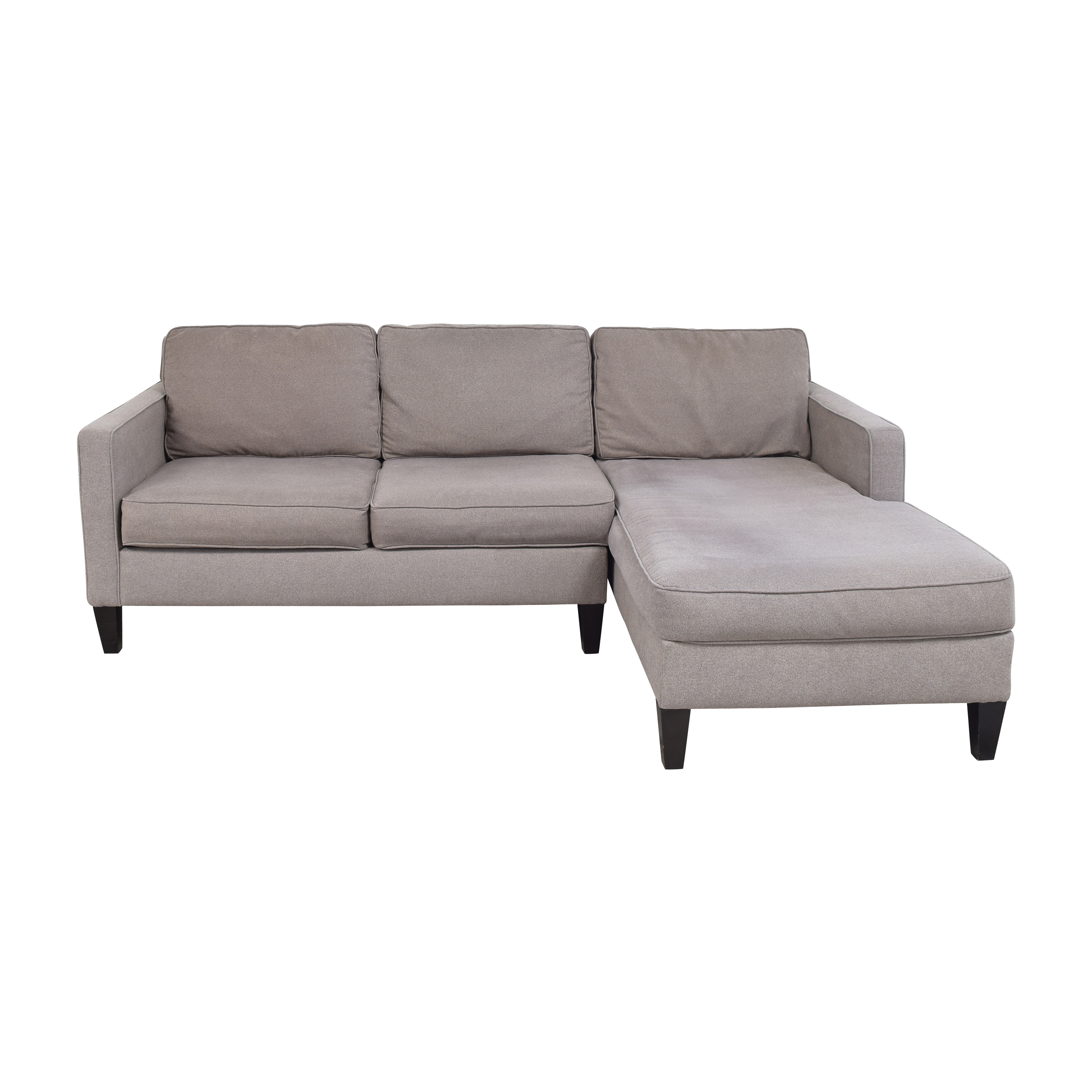 West Elm Heath Two Piece Chaise Sectional Sofa sale