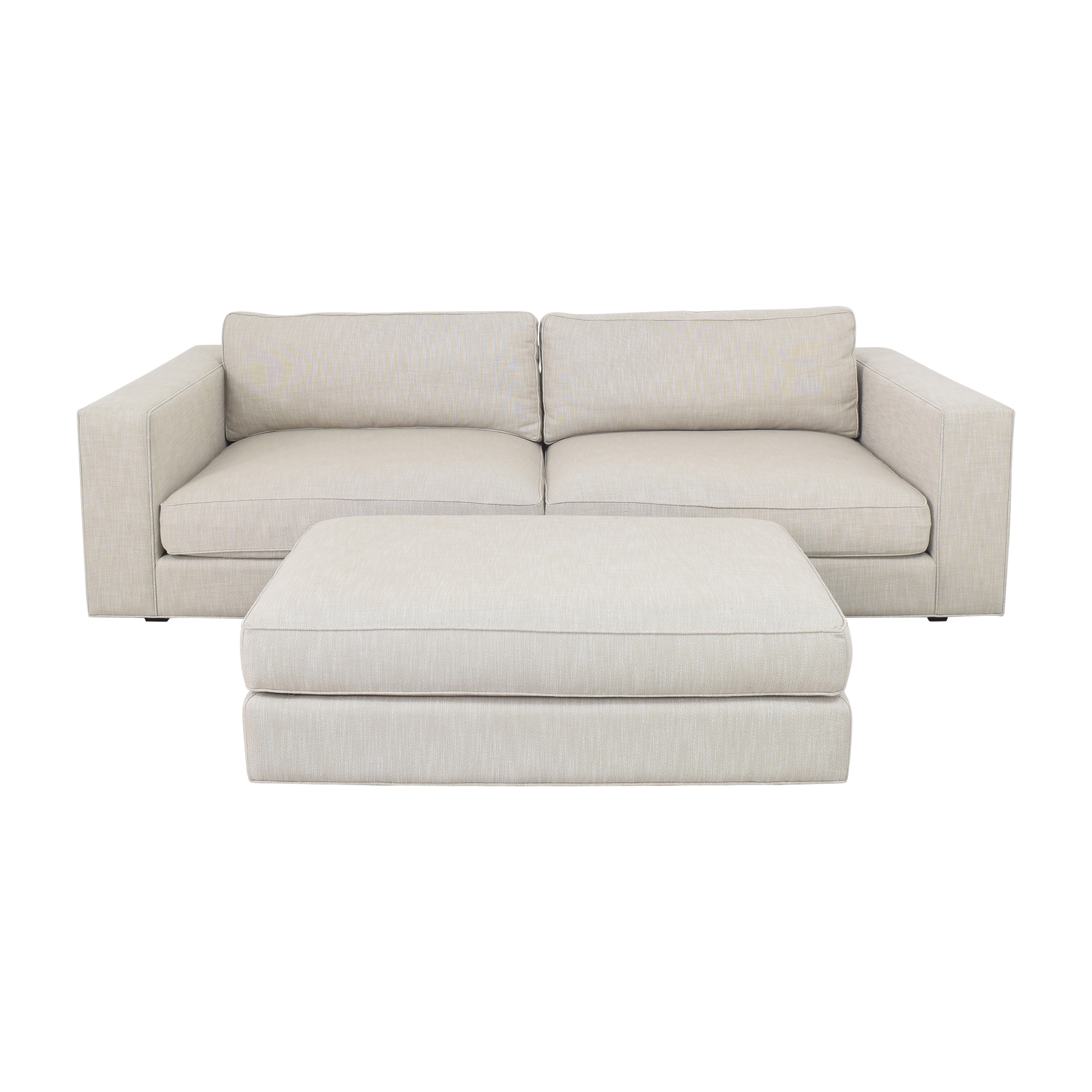 Restoration Hardware Maddox Sofa with Ottoman Restoration Hardware