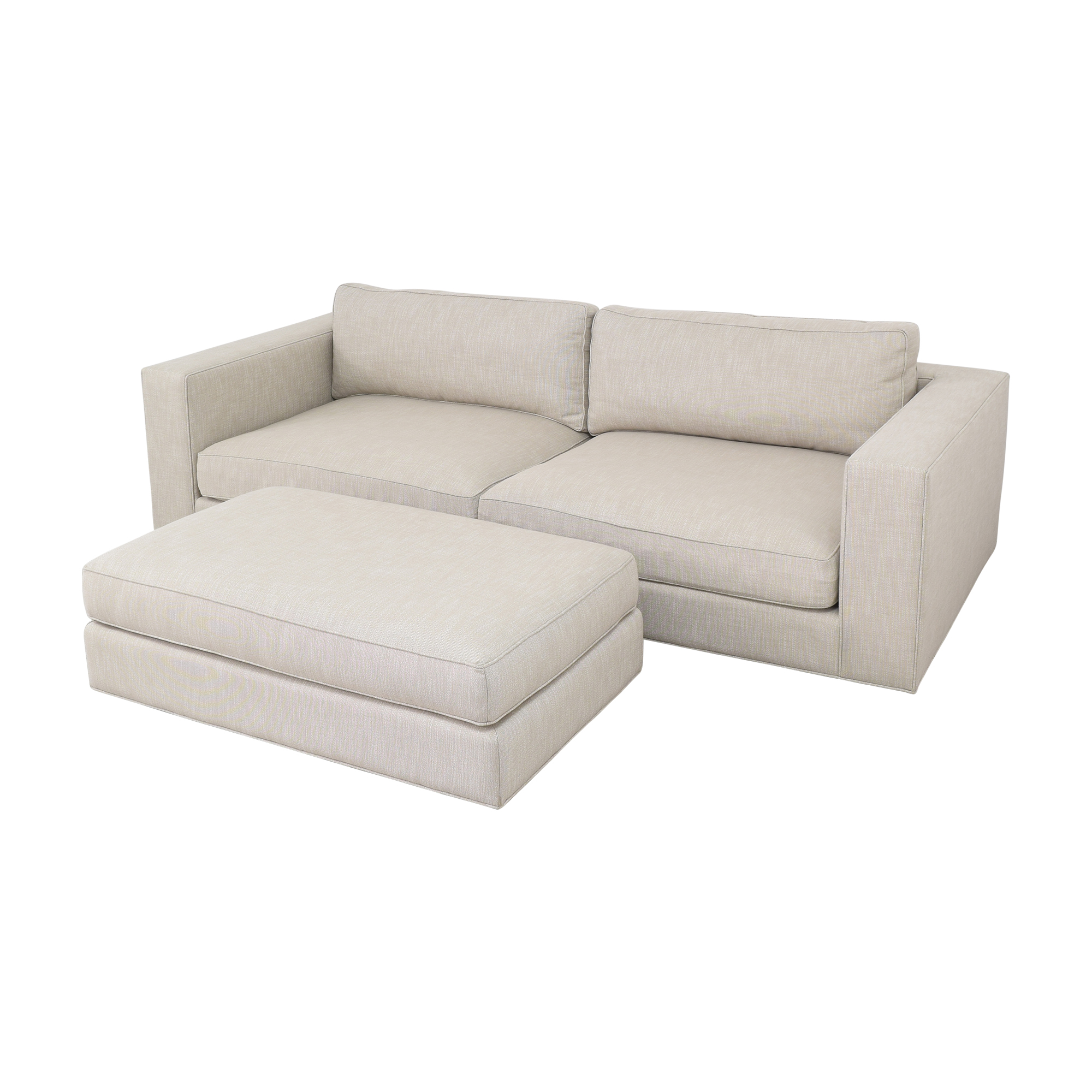 Restoration Hardware Restoration Hardware Maddox Sofa with Ottoman discount